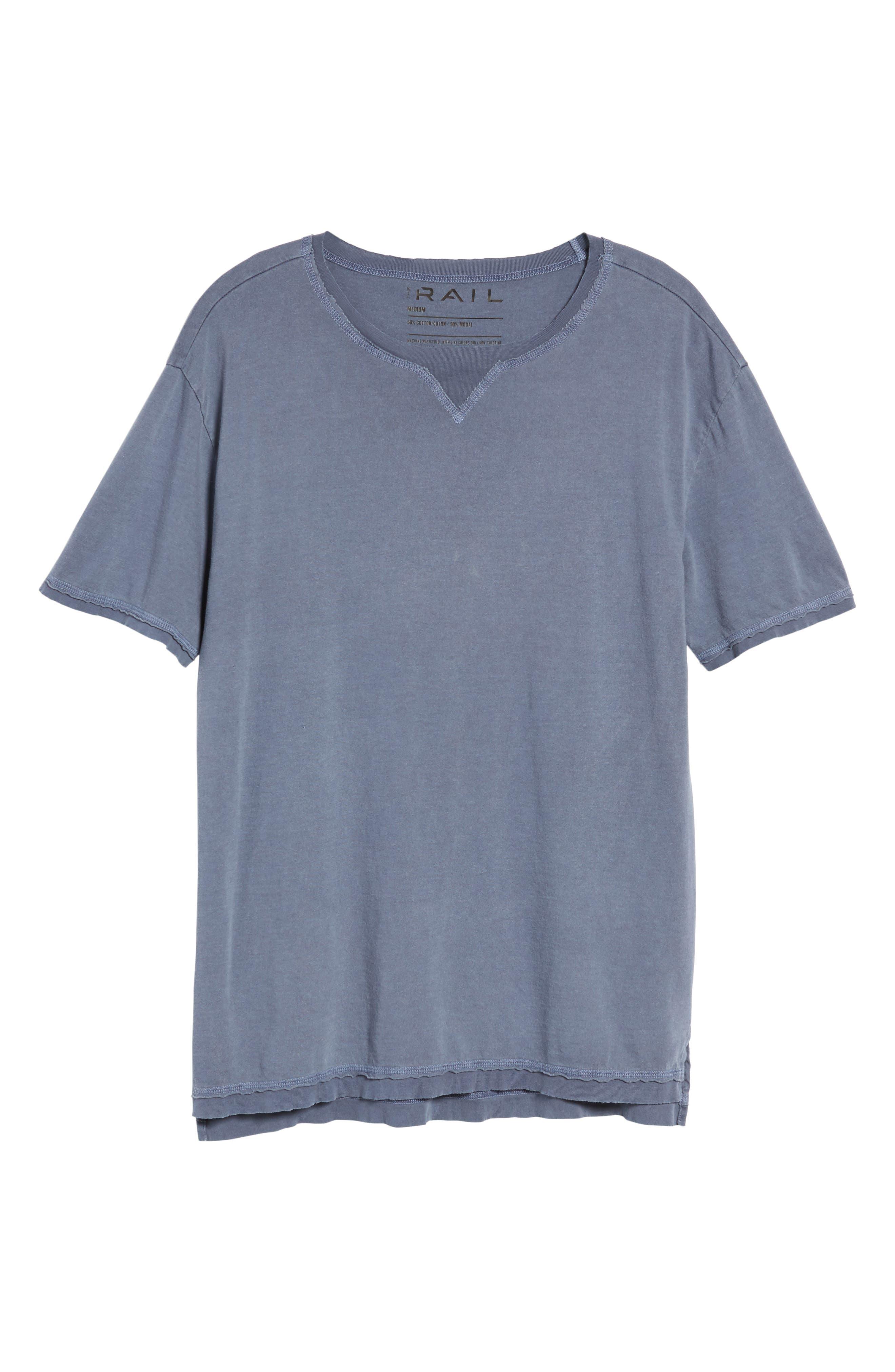 Raw Hem T-Shirt,                             Alternate thumbnail 6, color,                             Blue Indigo