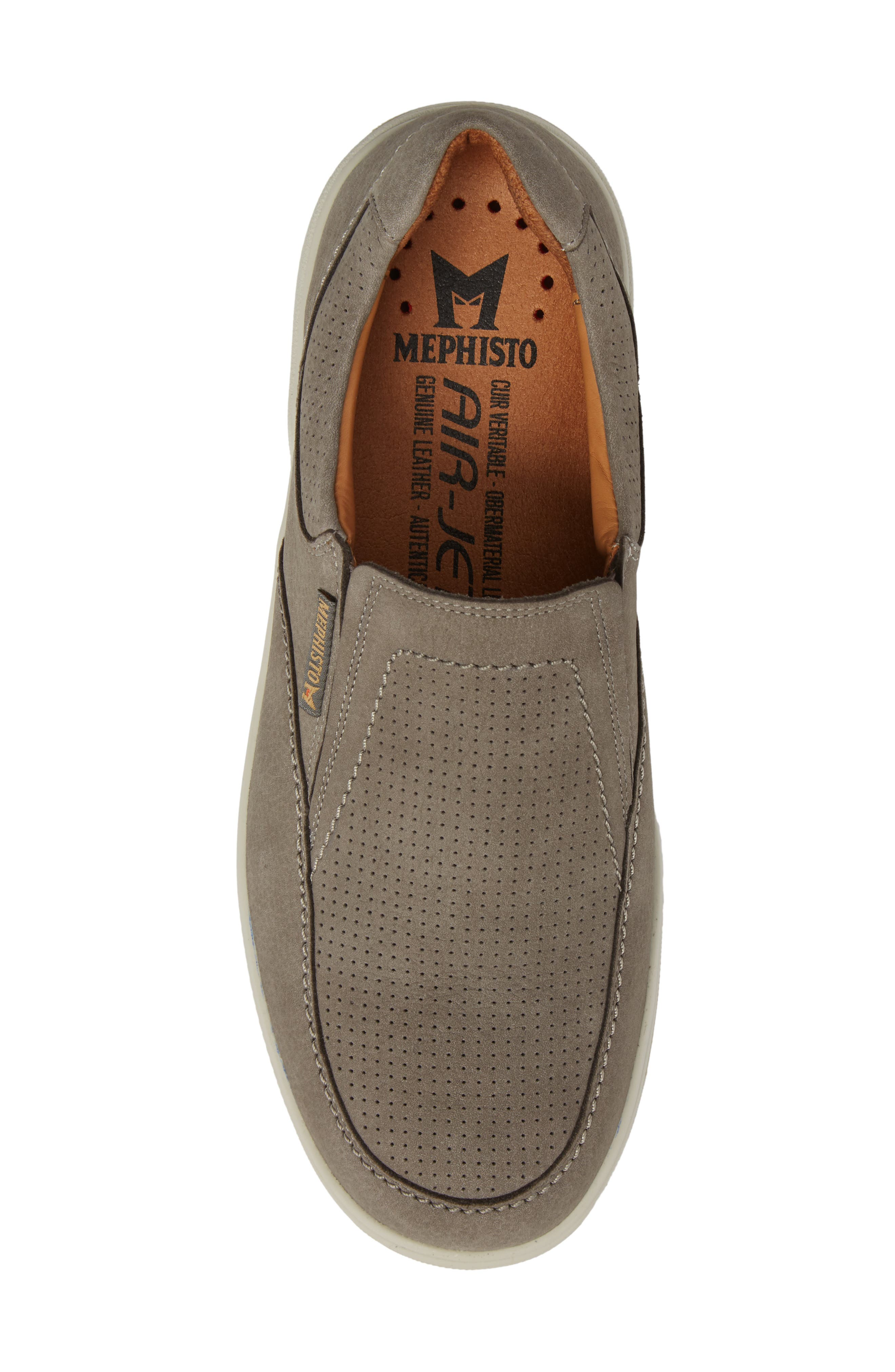 Davy Perforated Slip-On Sneaker,                             Alternate thumbnail 5, color,                             Grey