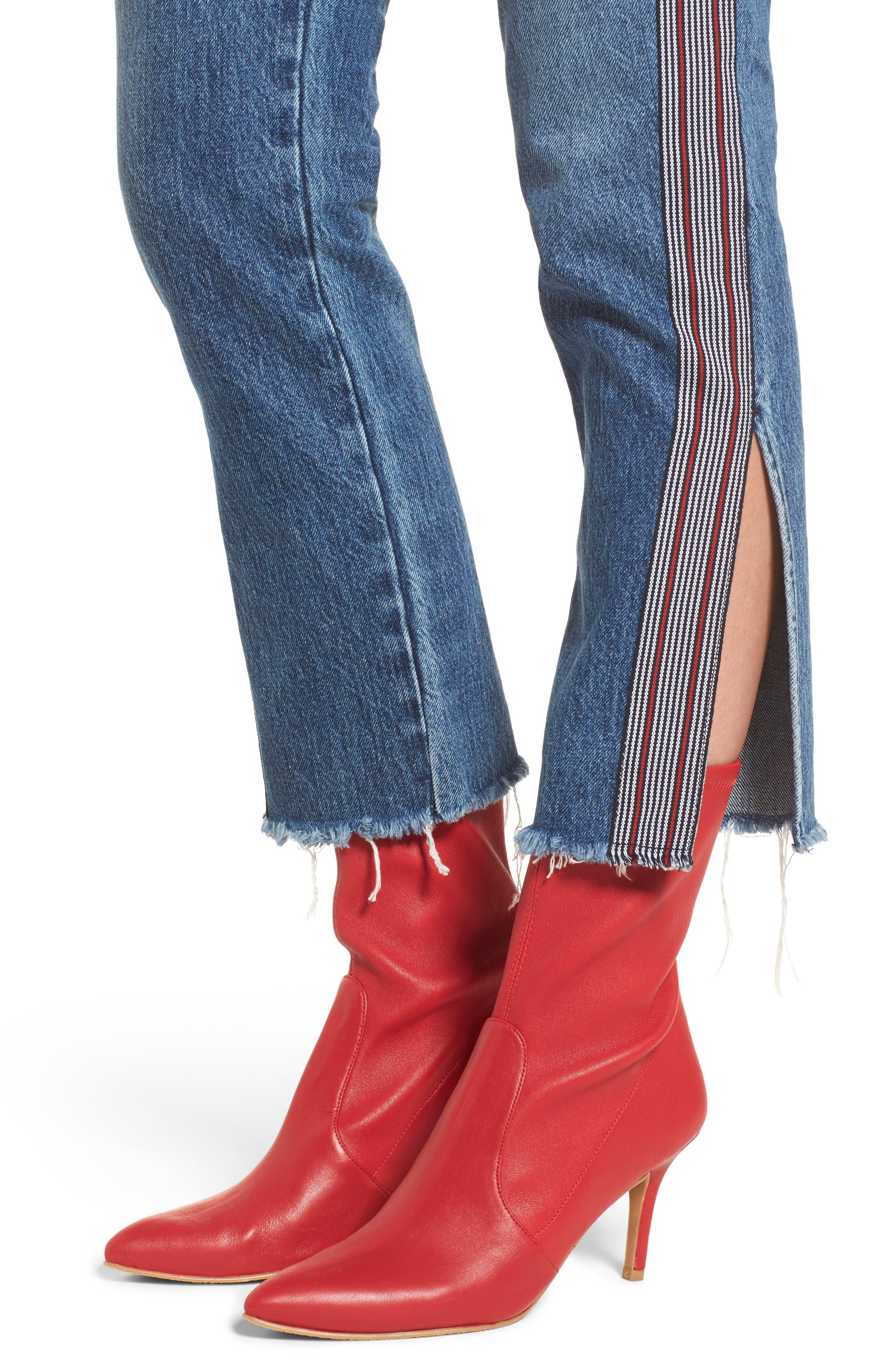 Riley Crop Straight Leg Jeans,                             Alternate thumbnail 4, color,                             Forgiver
