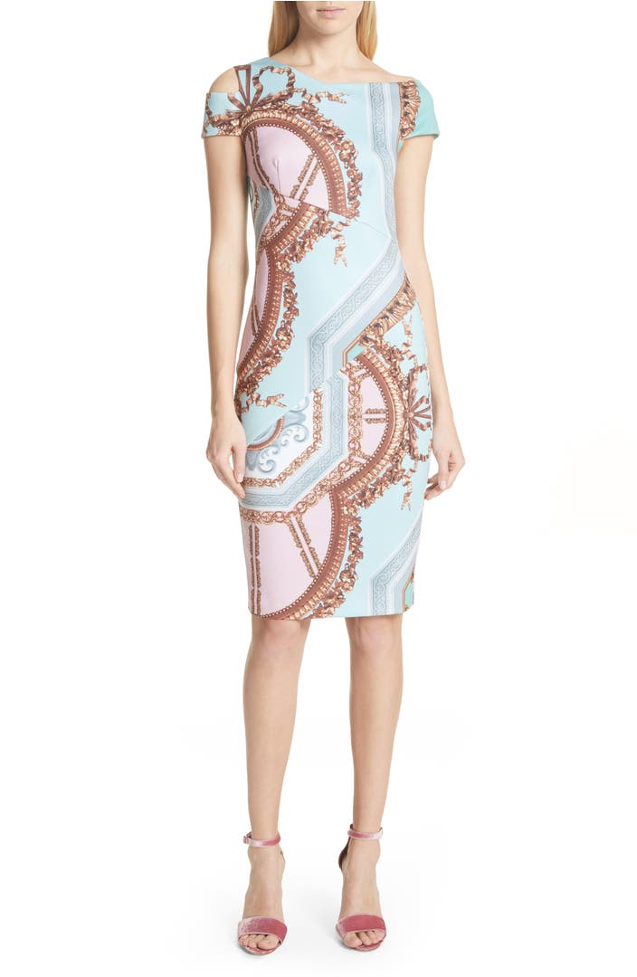Main Image - Ted Baker London Versailles Print Body-Con Dress