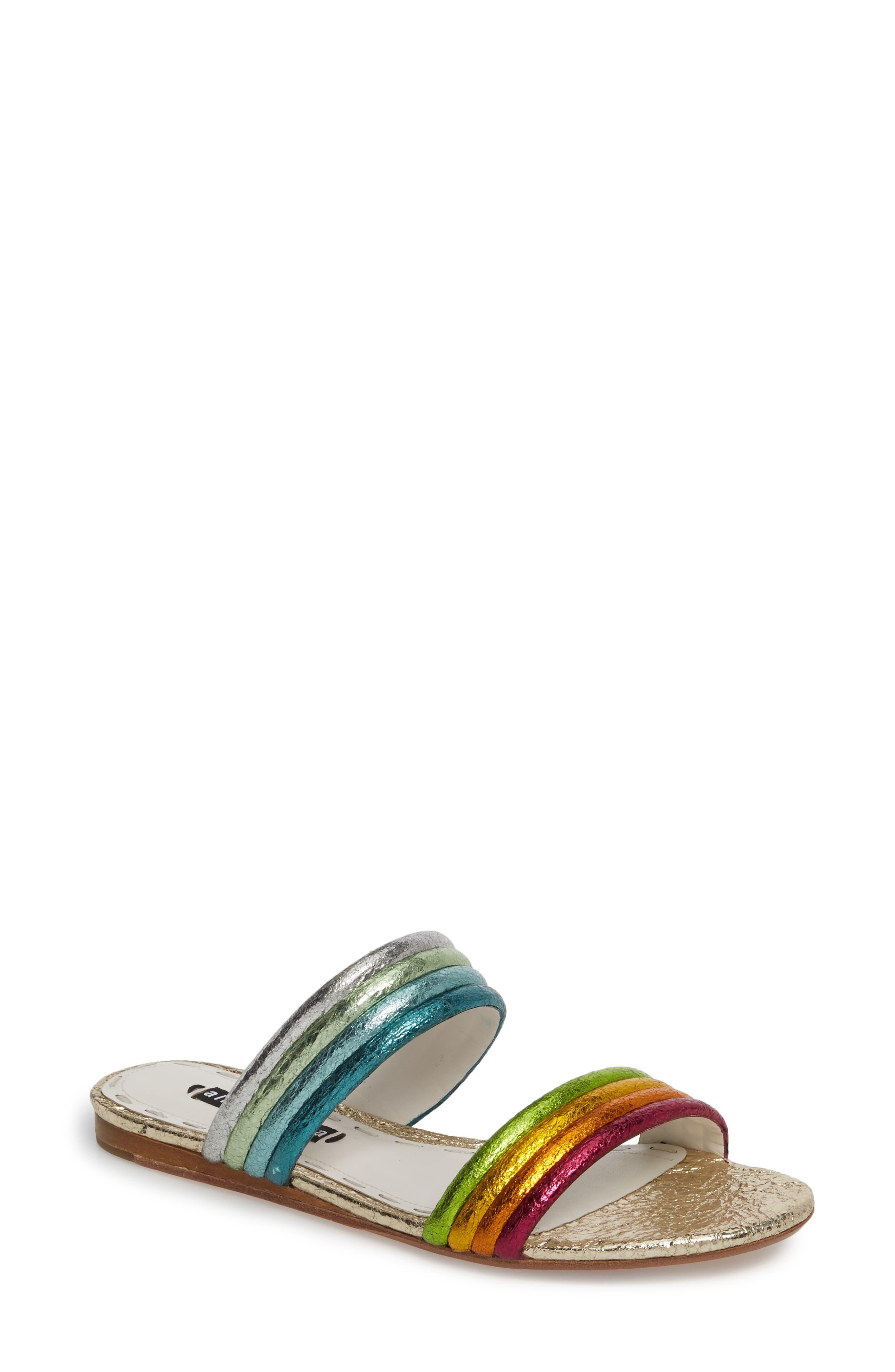 Anya Slide Sandal,                             Main thumbnail 1, color,                             Multi