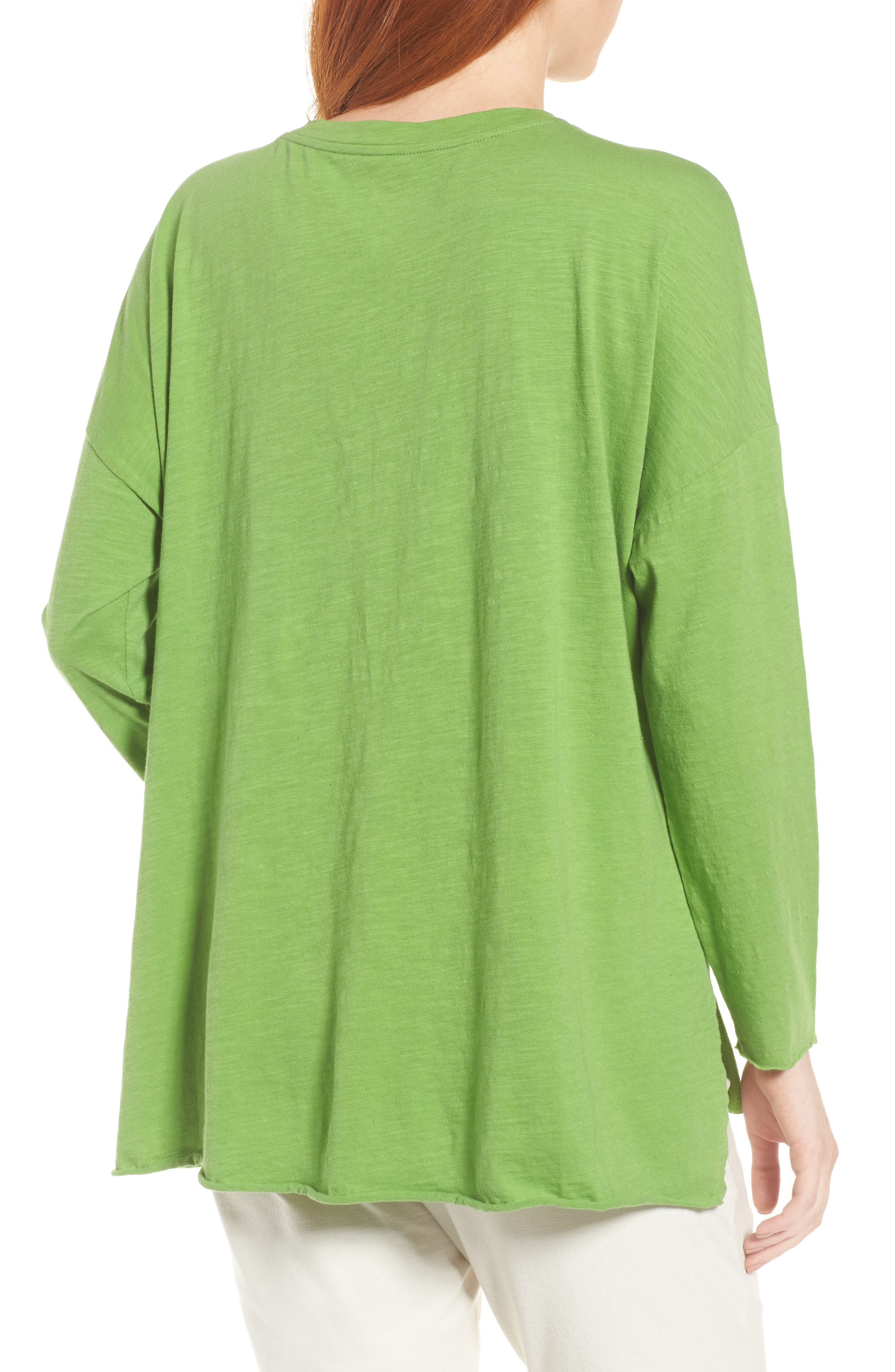 Organic Cotton Knit Top,                             Alternate thumbnail 2, color,                             Apple