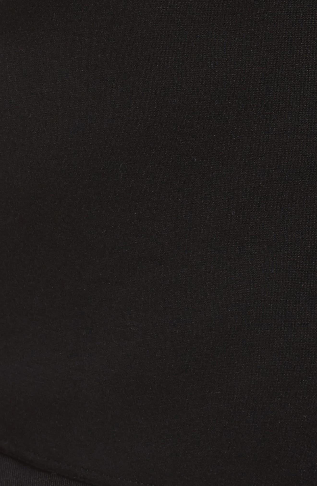 Alison Zip Front Jacket,                             Alternate thumbnail 5, color,                             Black