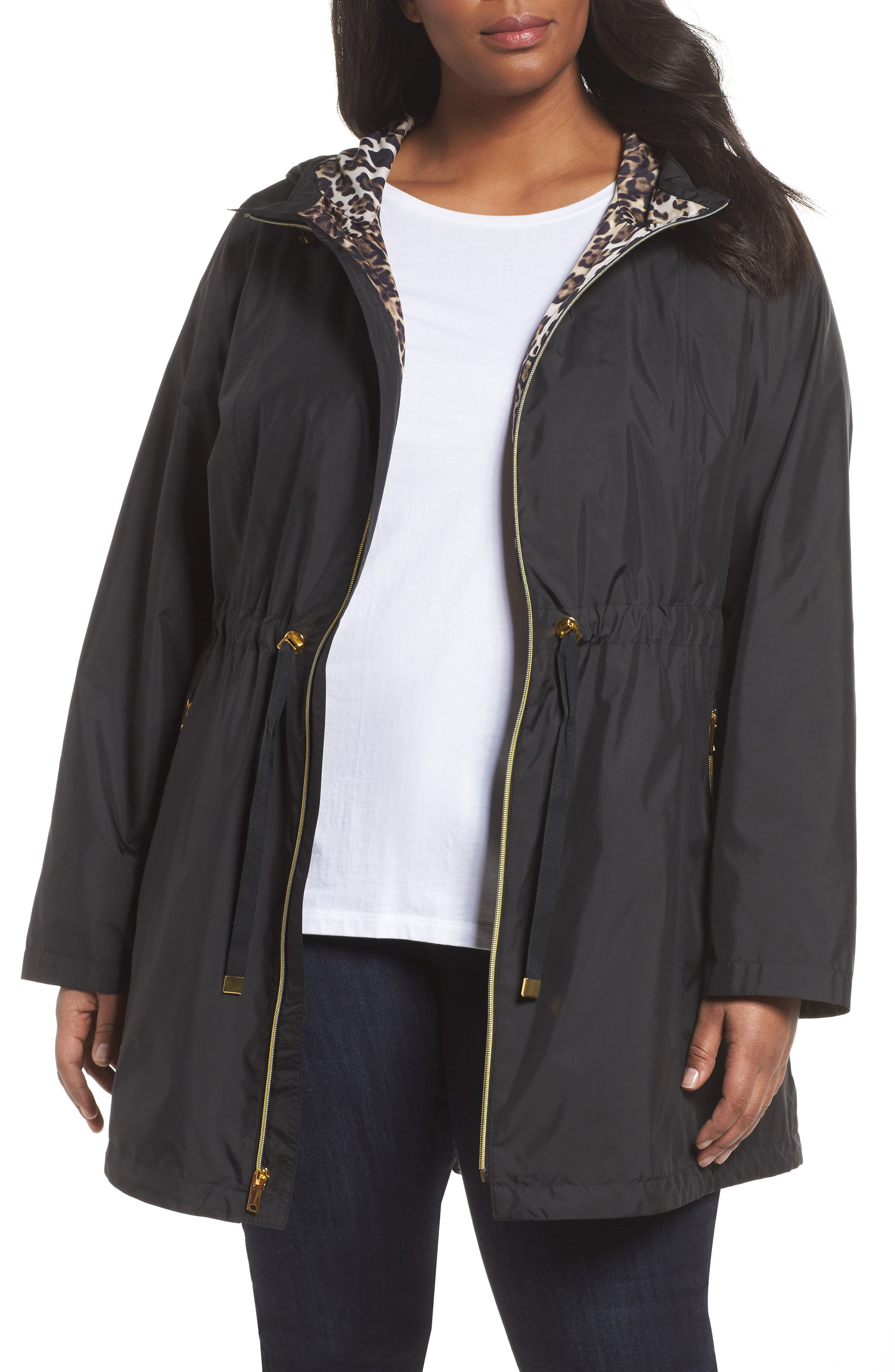 Gallery Packable Hooded Anorak (Plus Size)