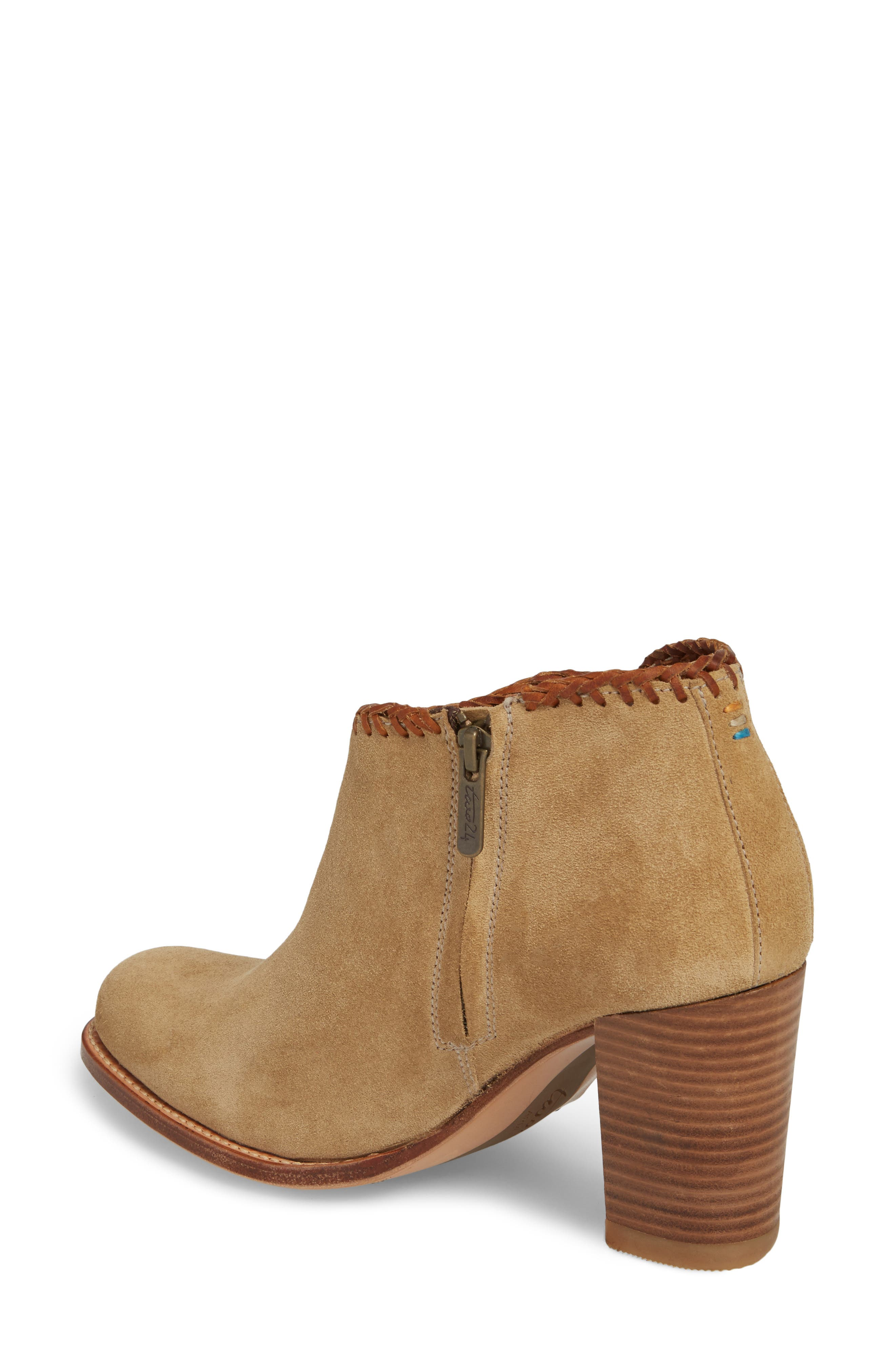 Sonya Fringed Bootie,                             Alternate thumbnail 2, color,                             Taupe Suede