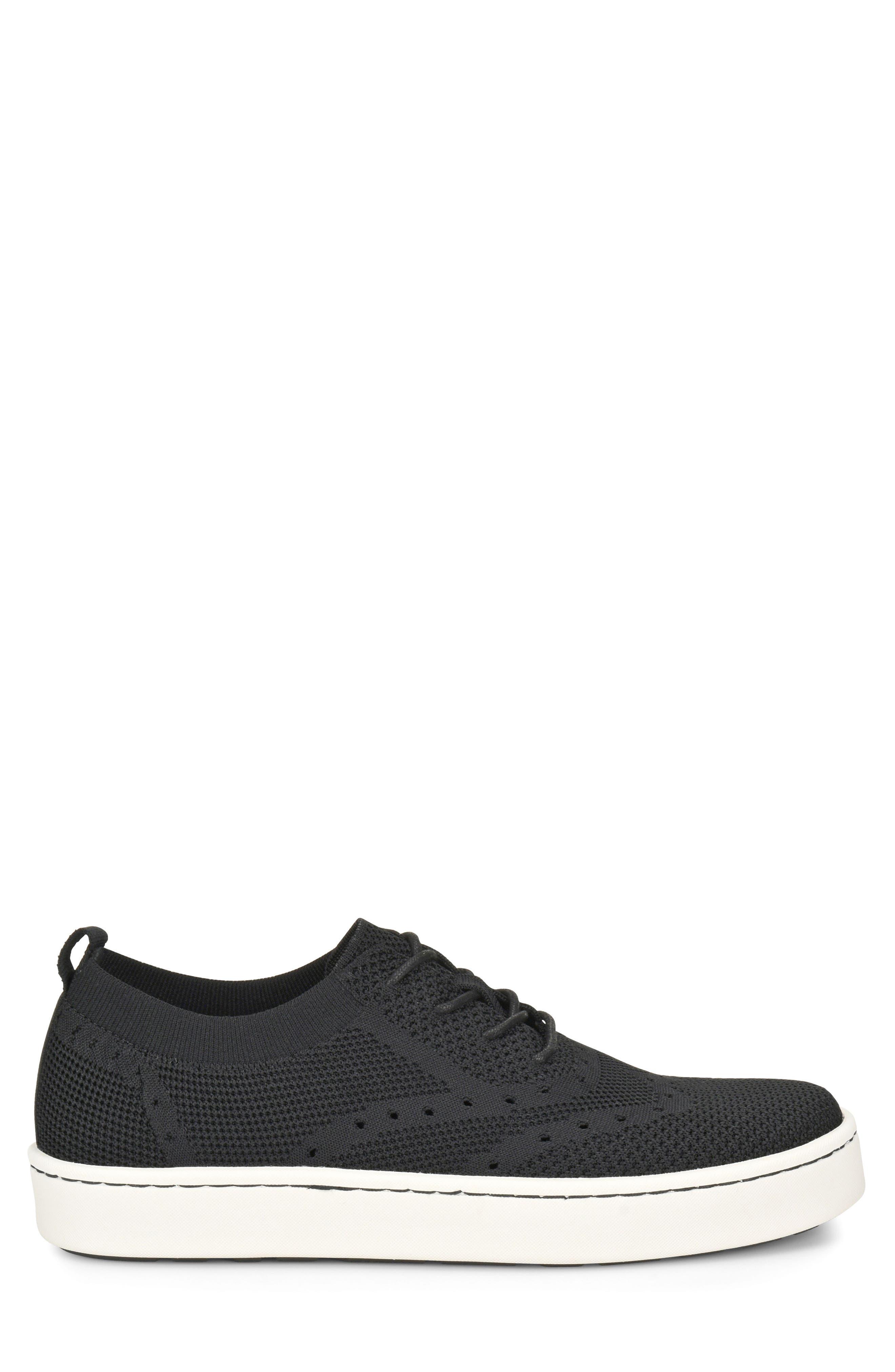 Bearse Sneaker,                             Alternate thumbnail 3, color,                             Black Knit