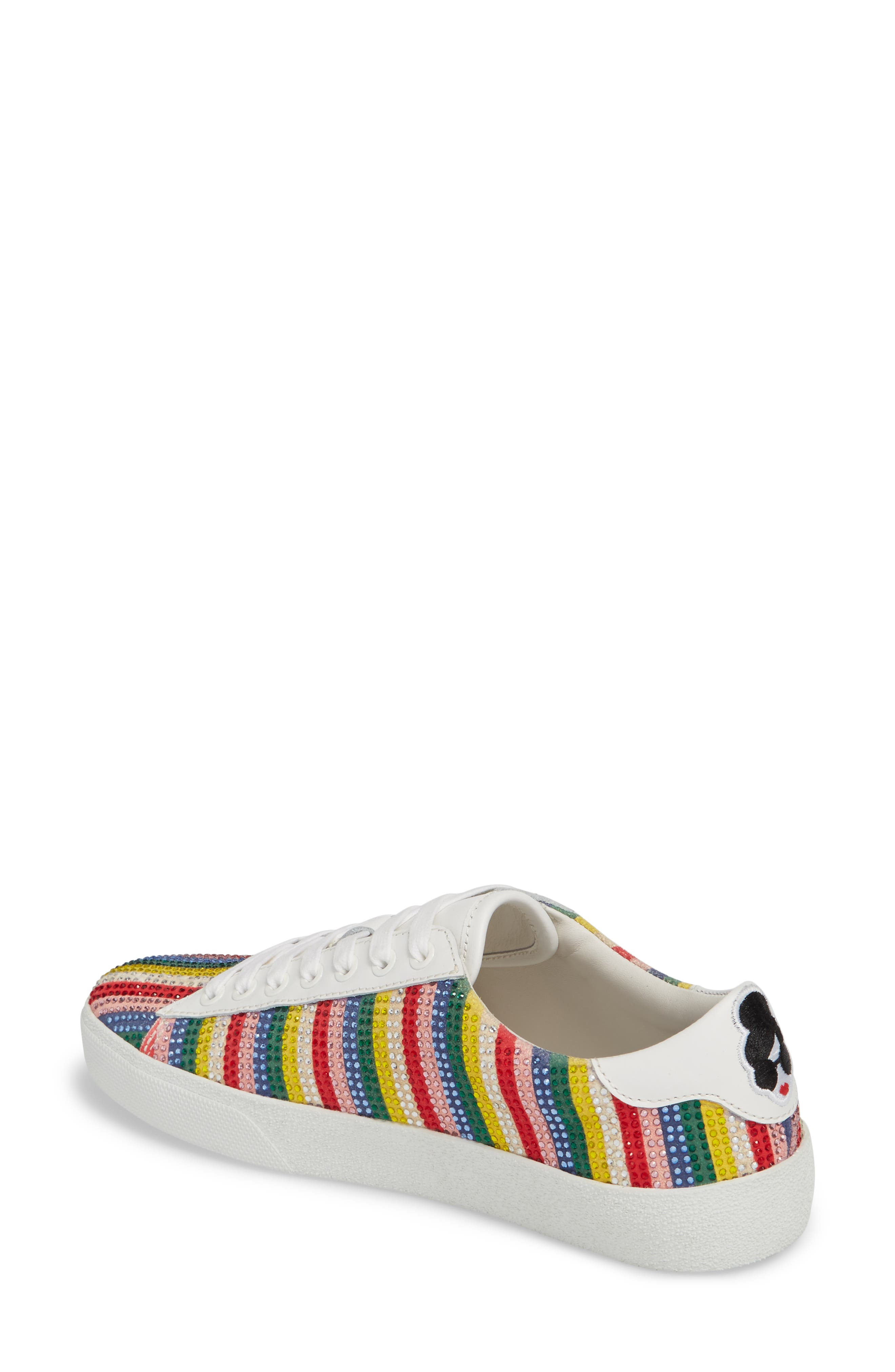 Cassidy Crystal Embellished Sneaker,                             Alternate thumbnail 2, color,                             Multi