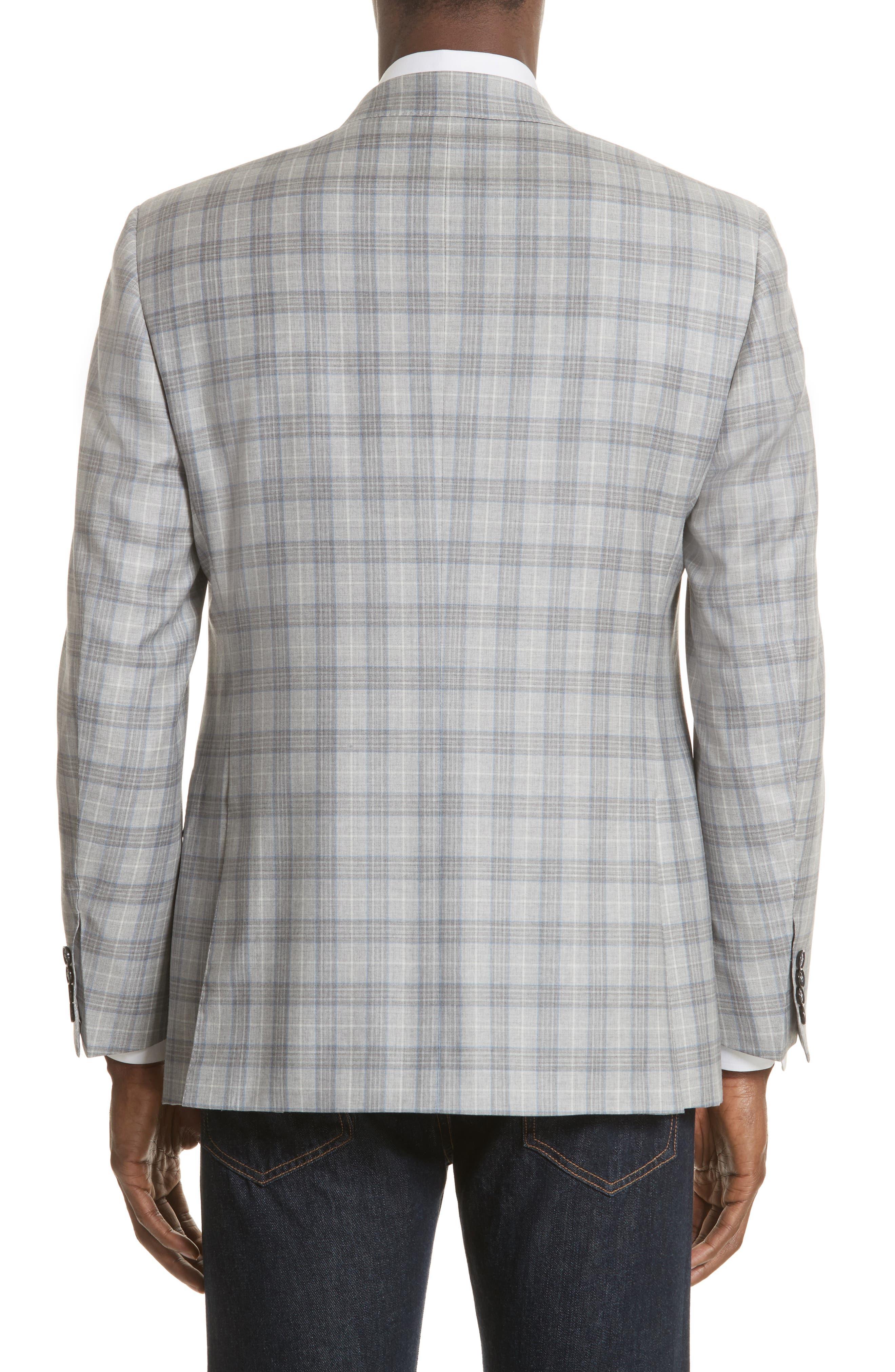 Classic Fit Plaid Wool Sport Coat,                             Alternate thumbnail 2, color,                             Grey