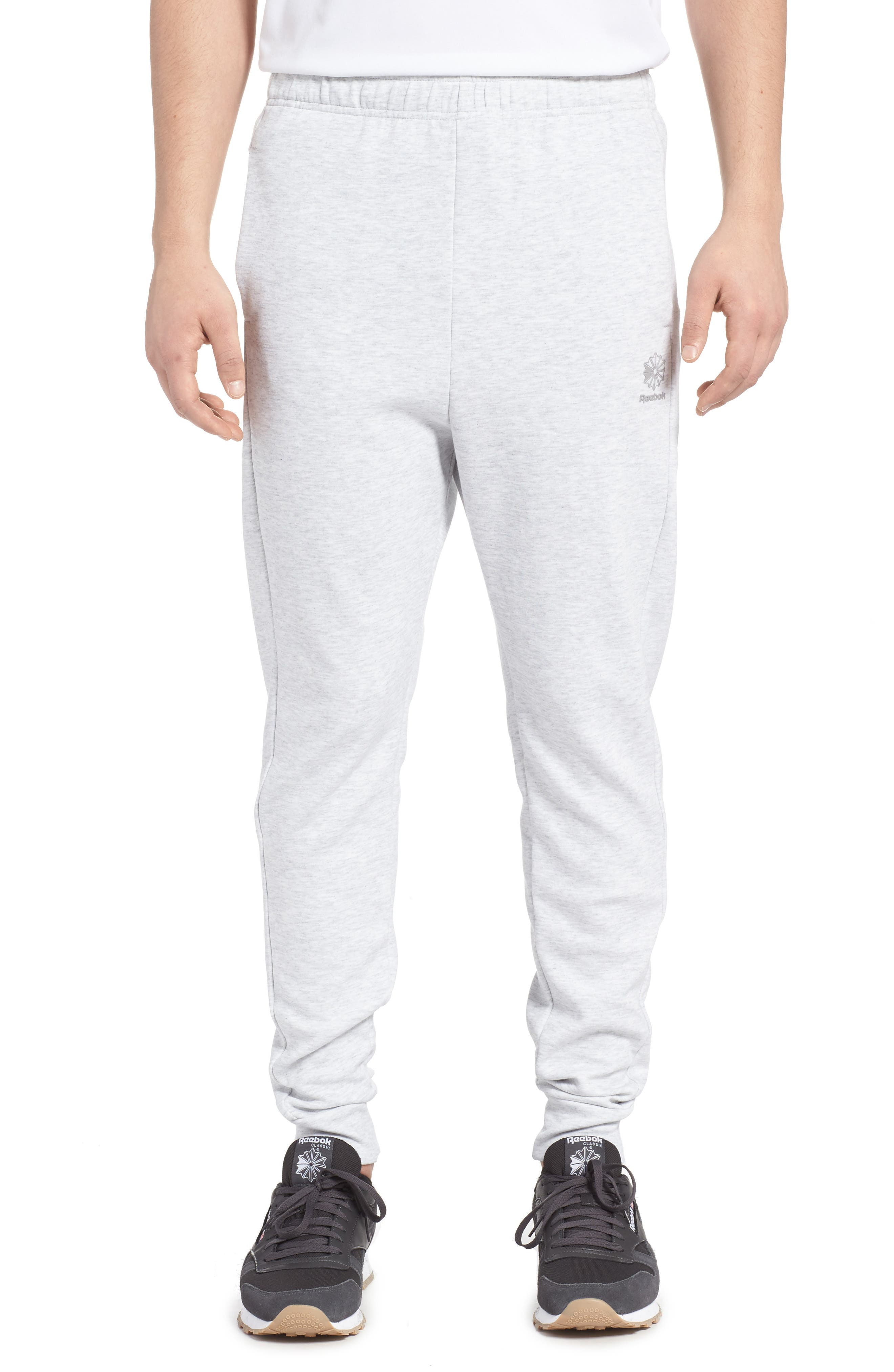 Classic Dynamic Knit Jogger Pants,                             Main thumbnail 1, color,                             Light Grey Heather