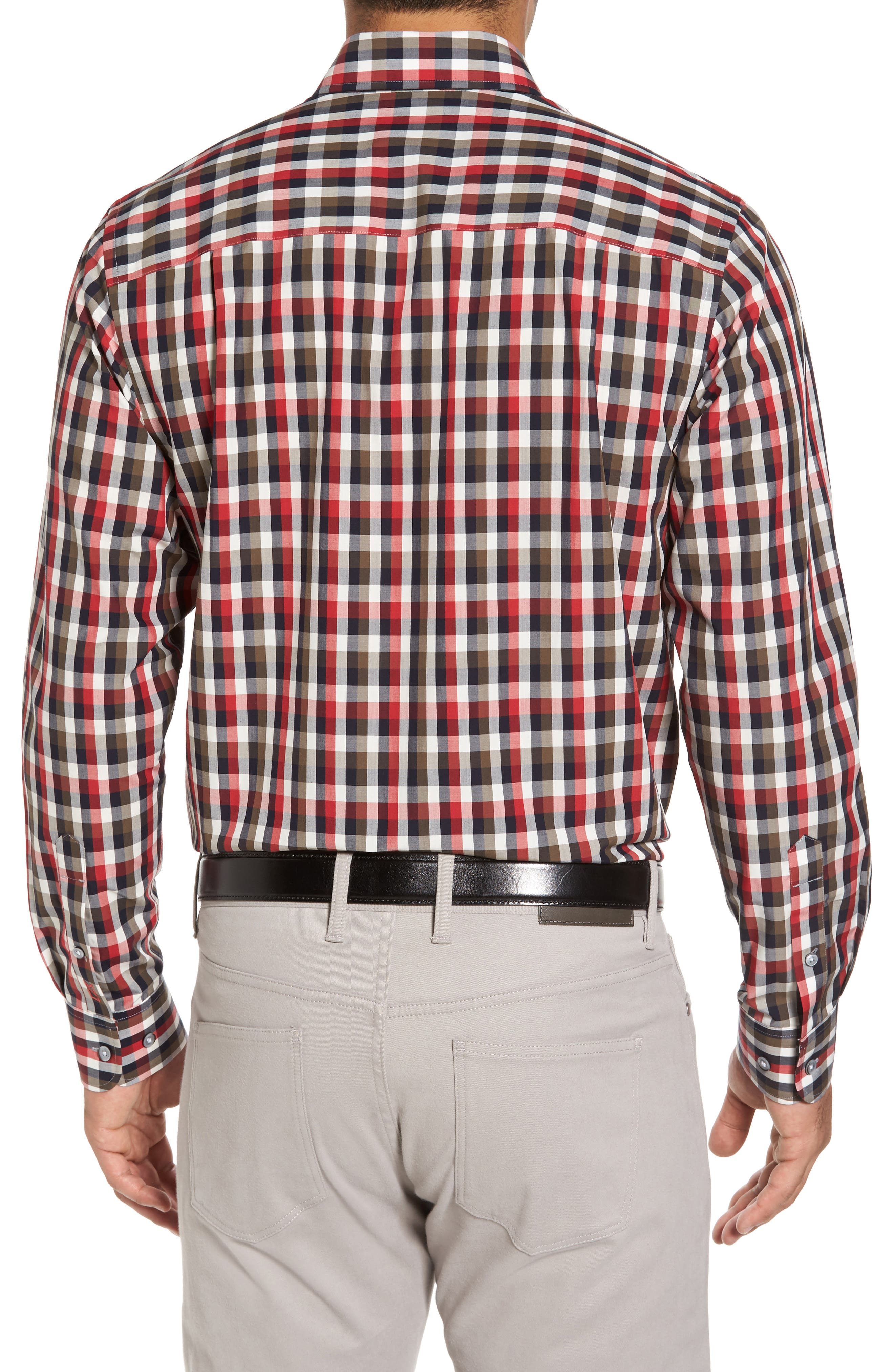 Sawyer Check Non-Iron Sport Shirt,                             Alternate thumbnail 2, color,                             Sedona