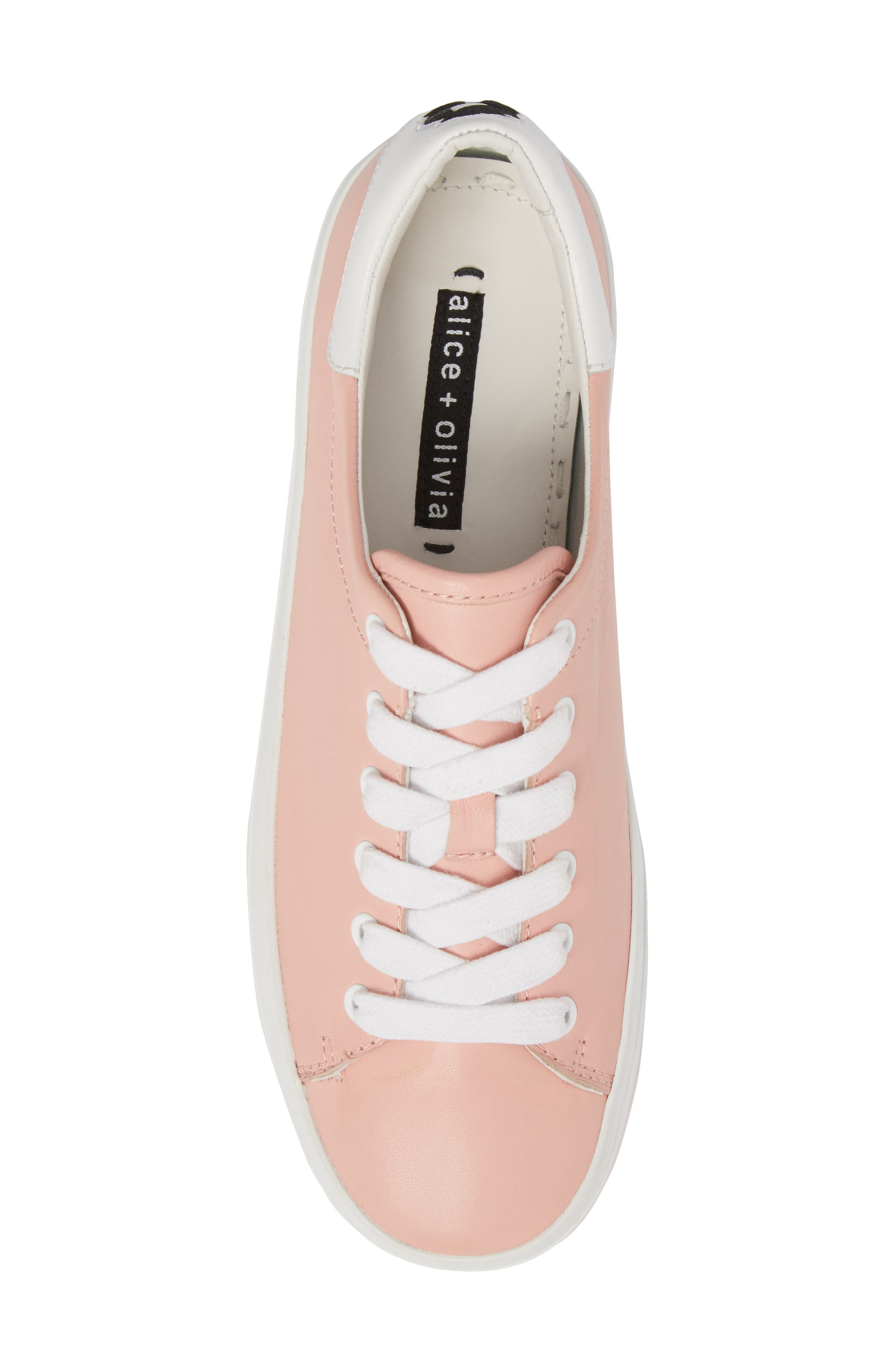 Ezra Flatform Sneaker,                             Alternate thumbnail 4, color,                             Perfect Pink / Pure White