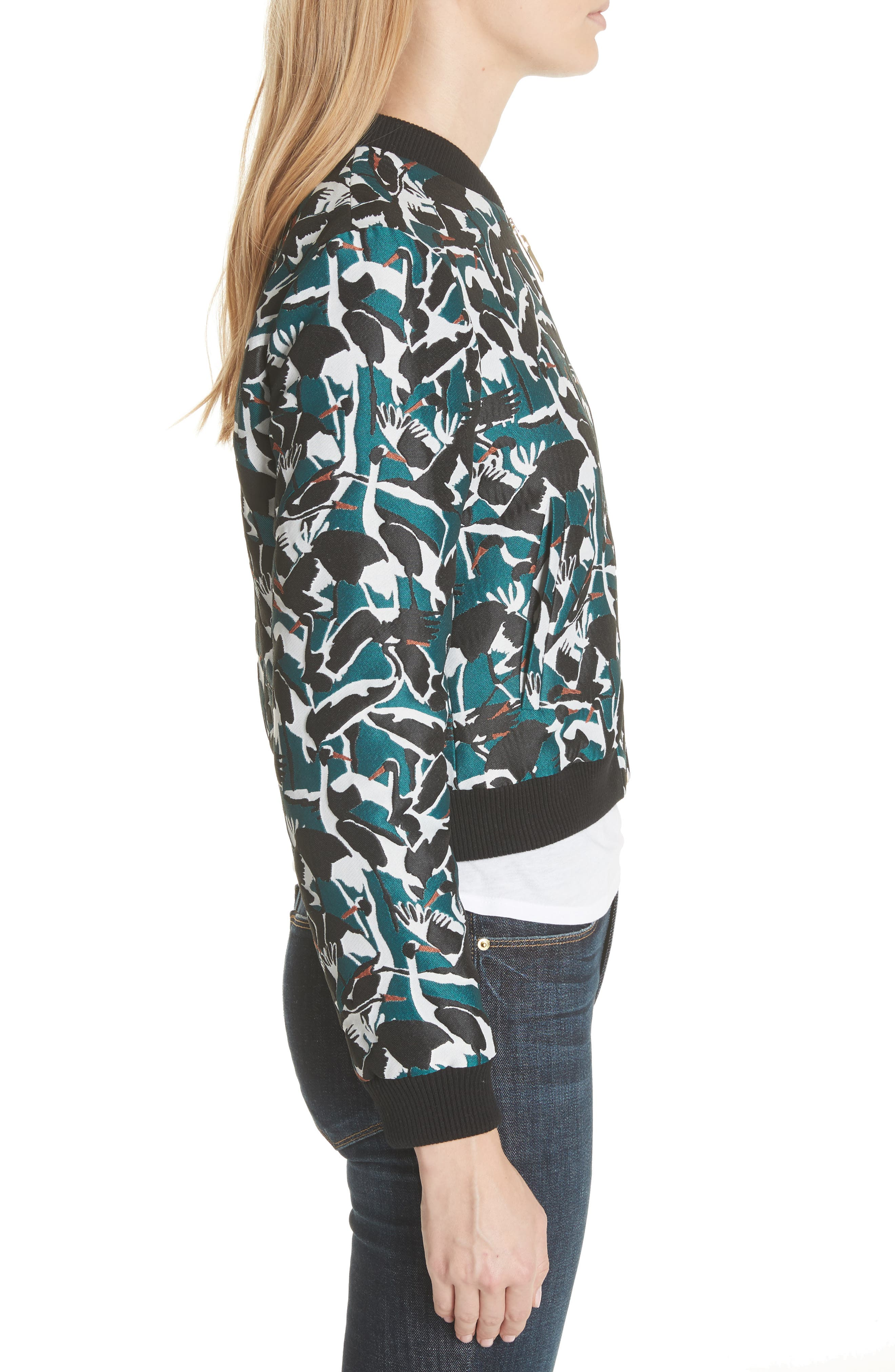 Colour by London Joeshi Bomber Jacket,                             Alternate thumbnail 3, color,                             Teal