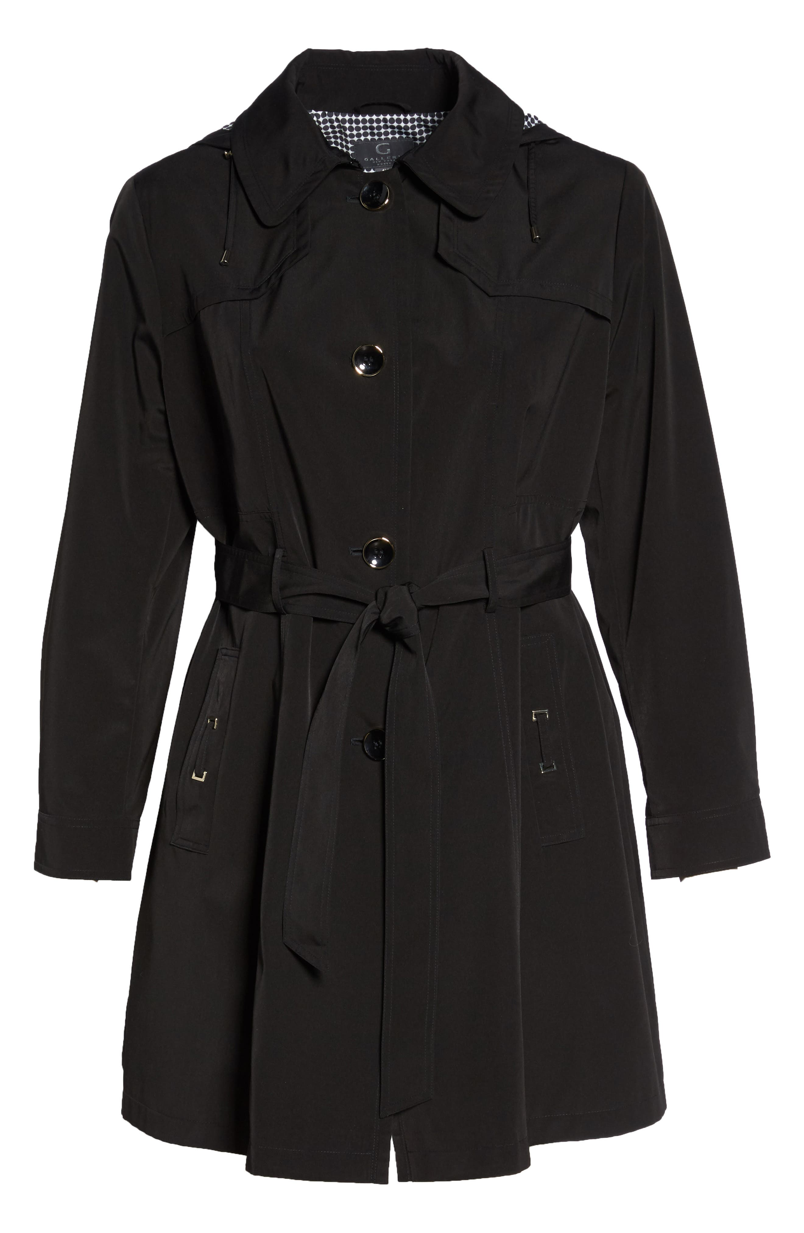 Alternate Image 6  - Gallery Belted Trench Raincoat (Plus Size)