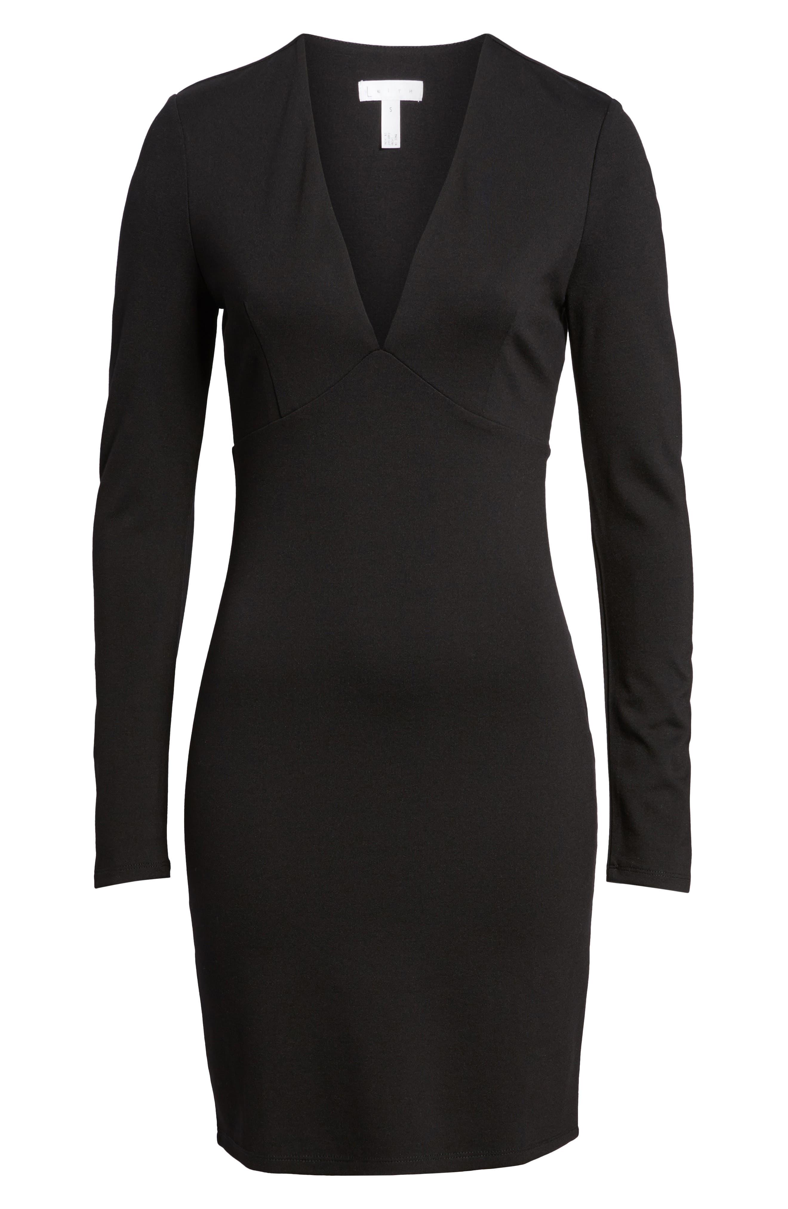 Alternate Image 6  - Leith V-Neck Body-Con Dress