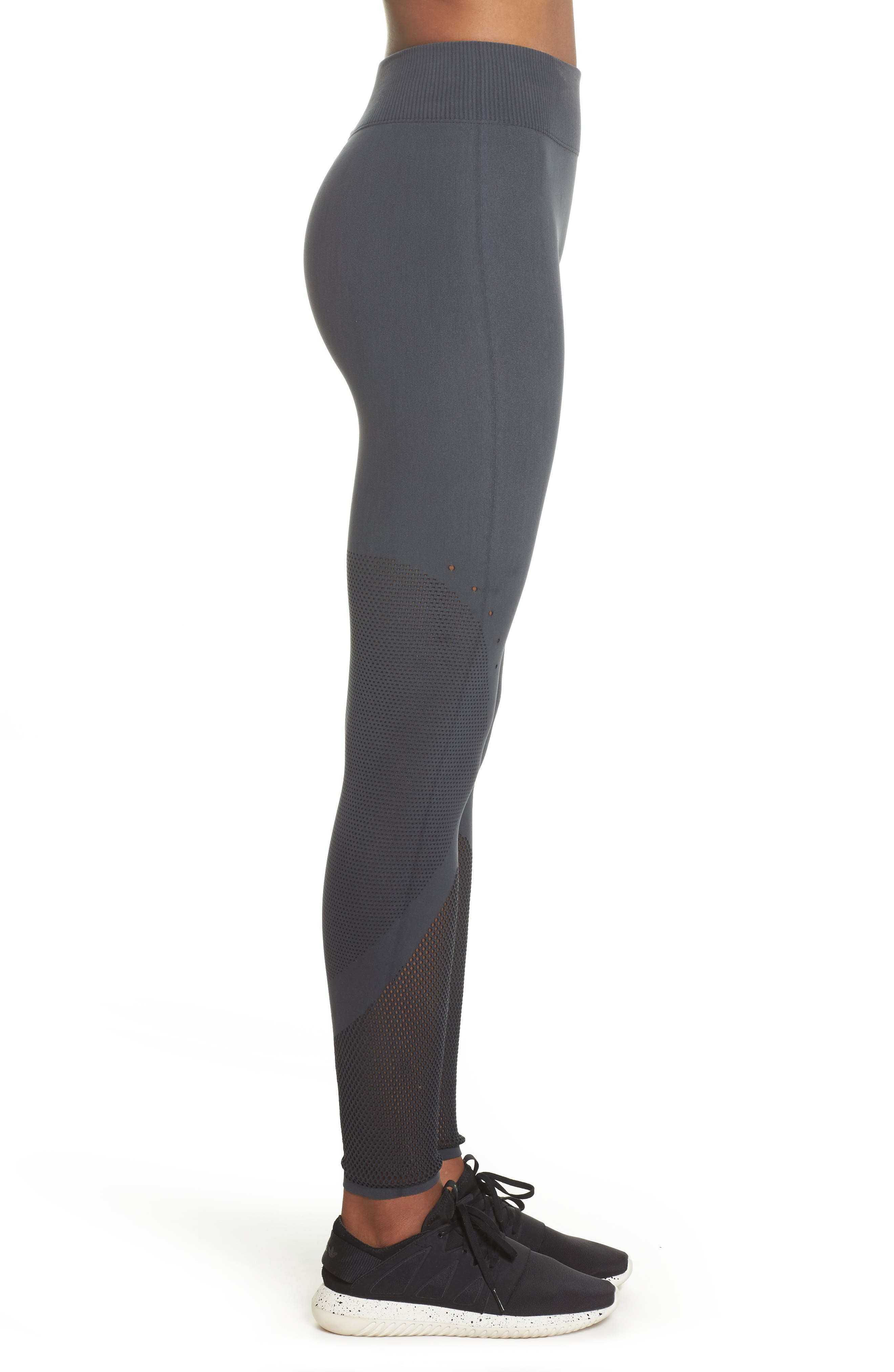Warp Climacool<sup>®</sup> Knit Tights,                             Alternate thumbnail 3, color,                             Carbon/ Black