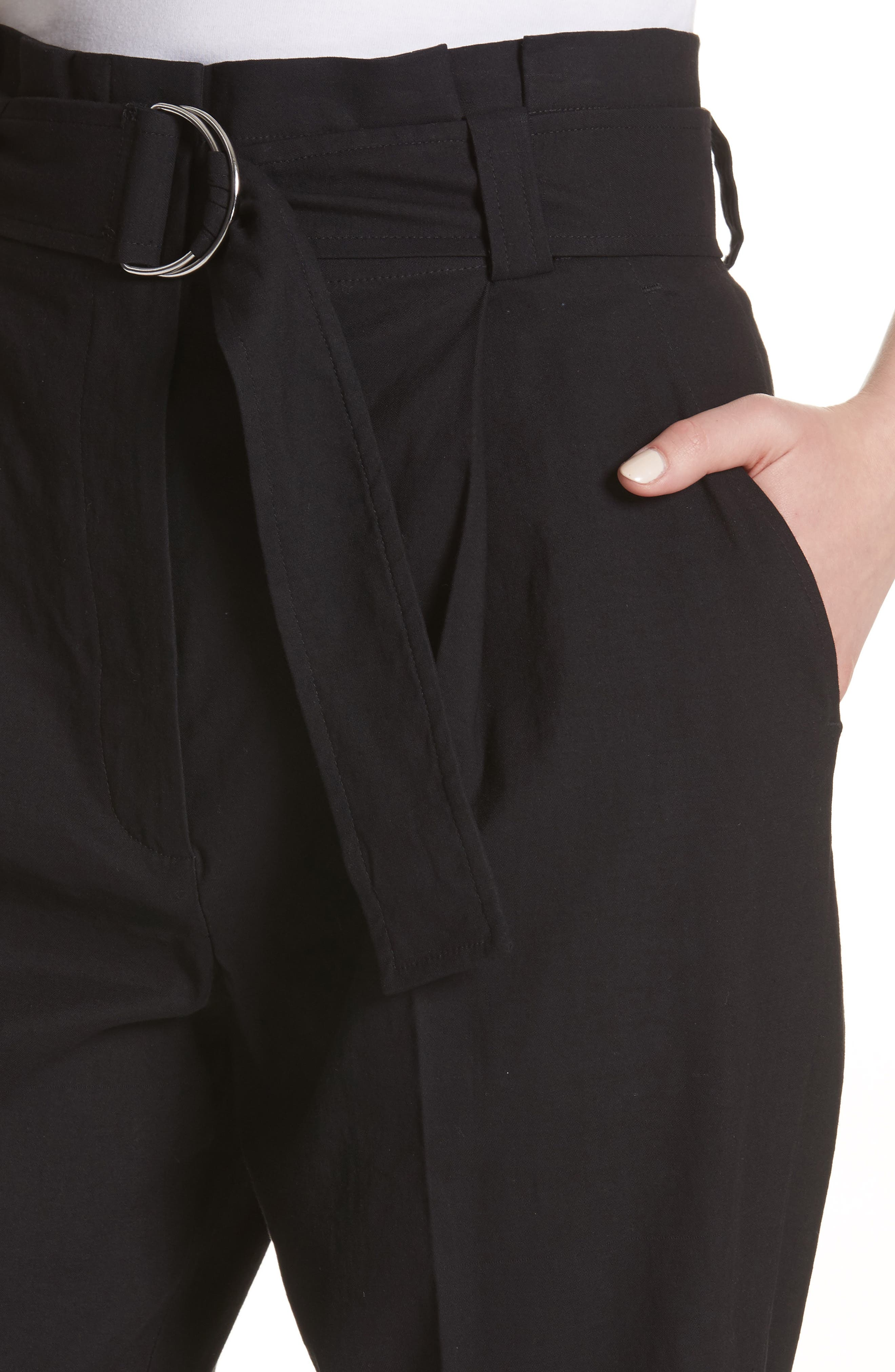 Diego High Waist Pants,                             Alternate thumbnail 4, color,                             Black