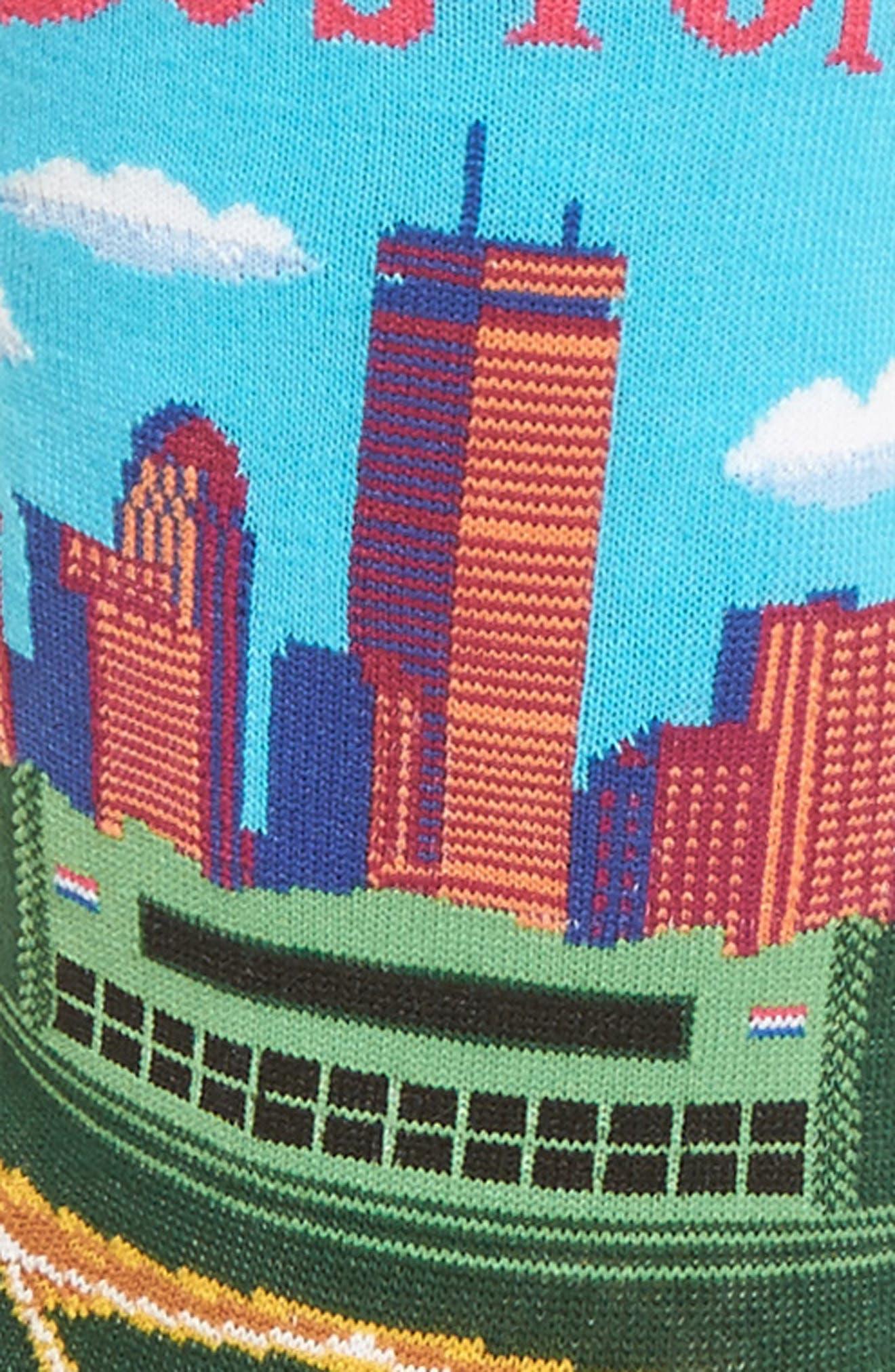 Travel Series - Boston Crew Socks,                             Alternate thumbnail 2, color,                             Light Blue