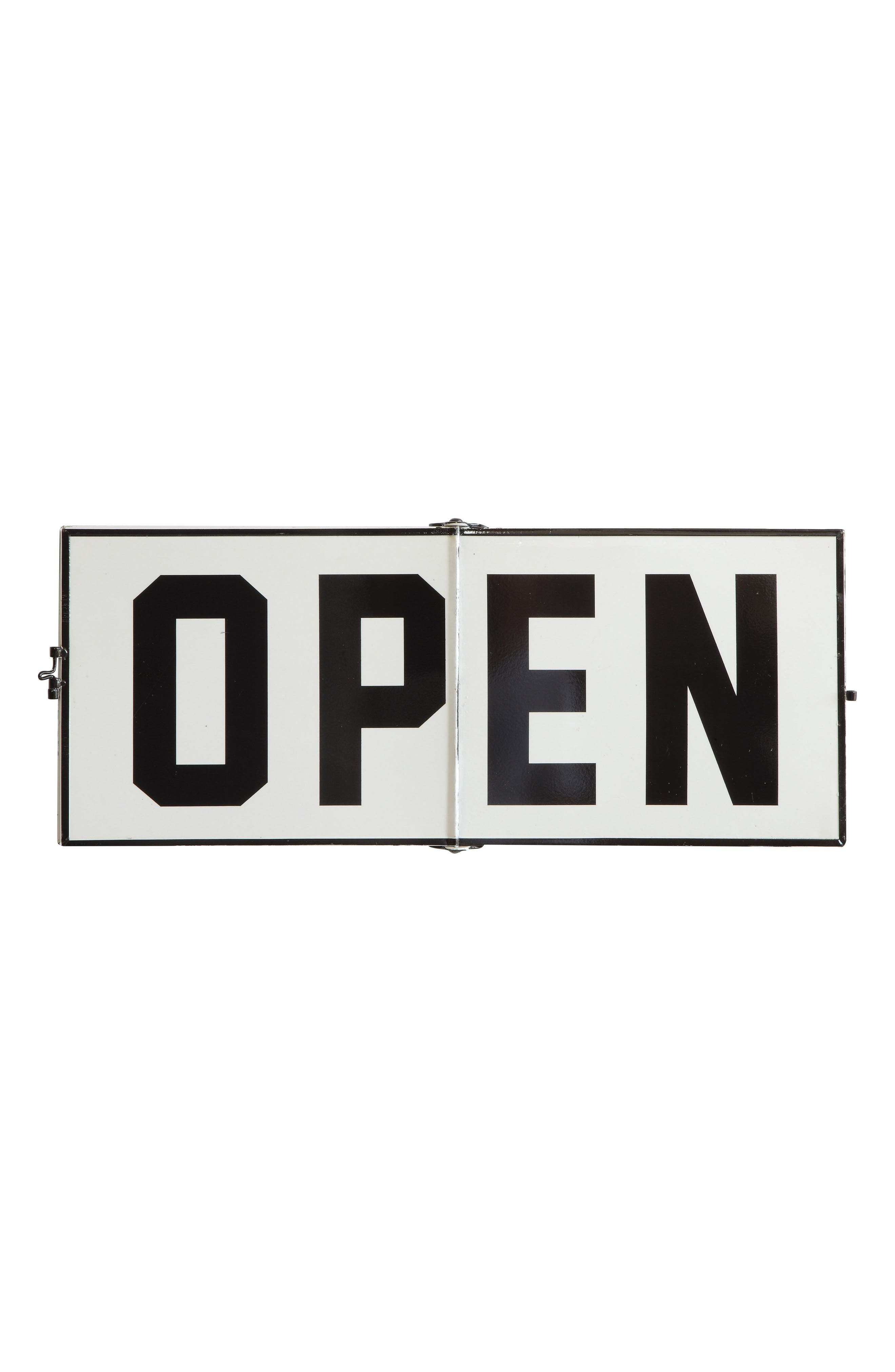 Open/Closed Kitchen Sign,                             Main thumbnail 1, color,                             White