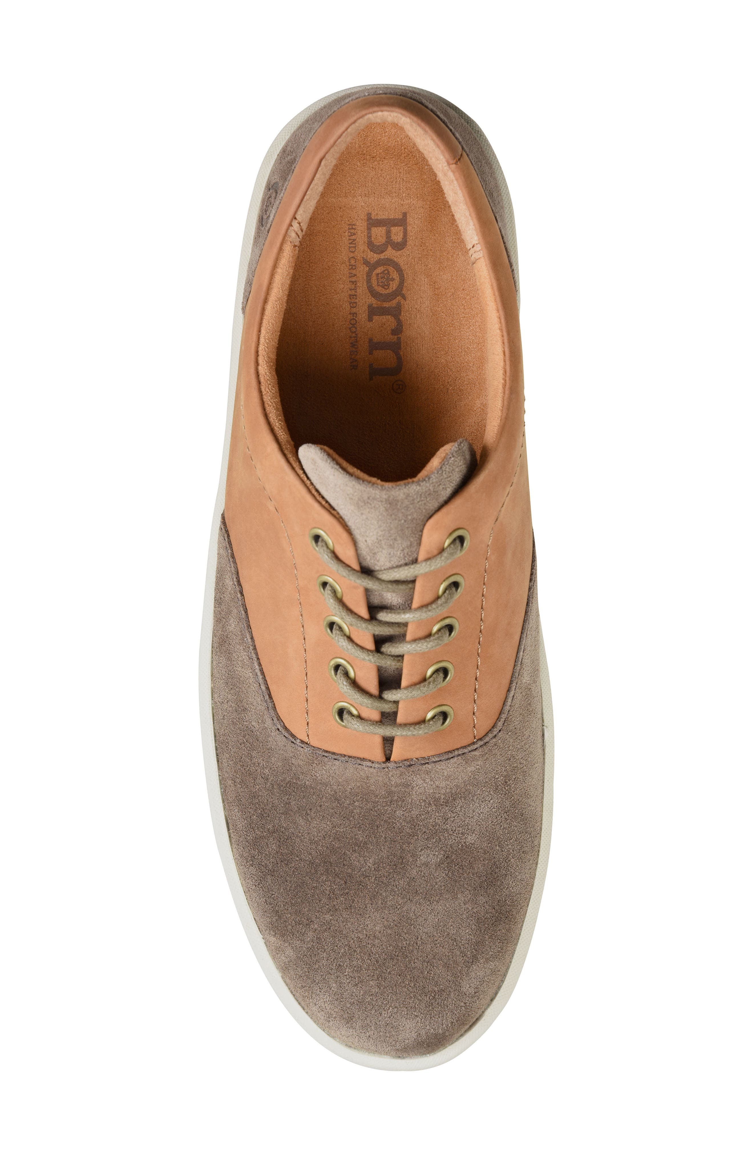 Keystone Low Top Sneaker,                             Alternate thumbnail 5, color,                             Taupe Leather