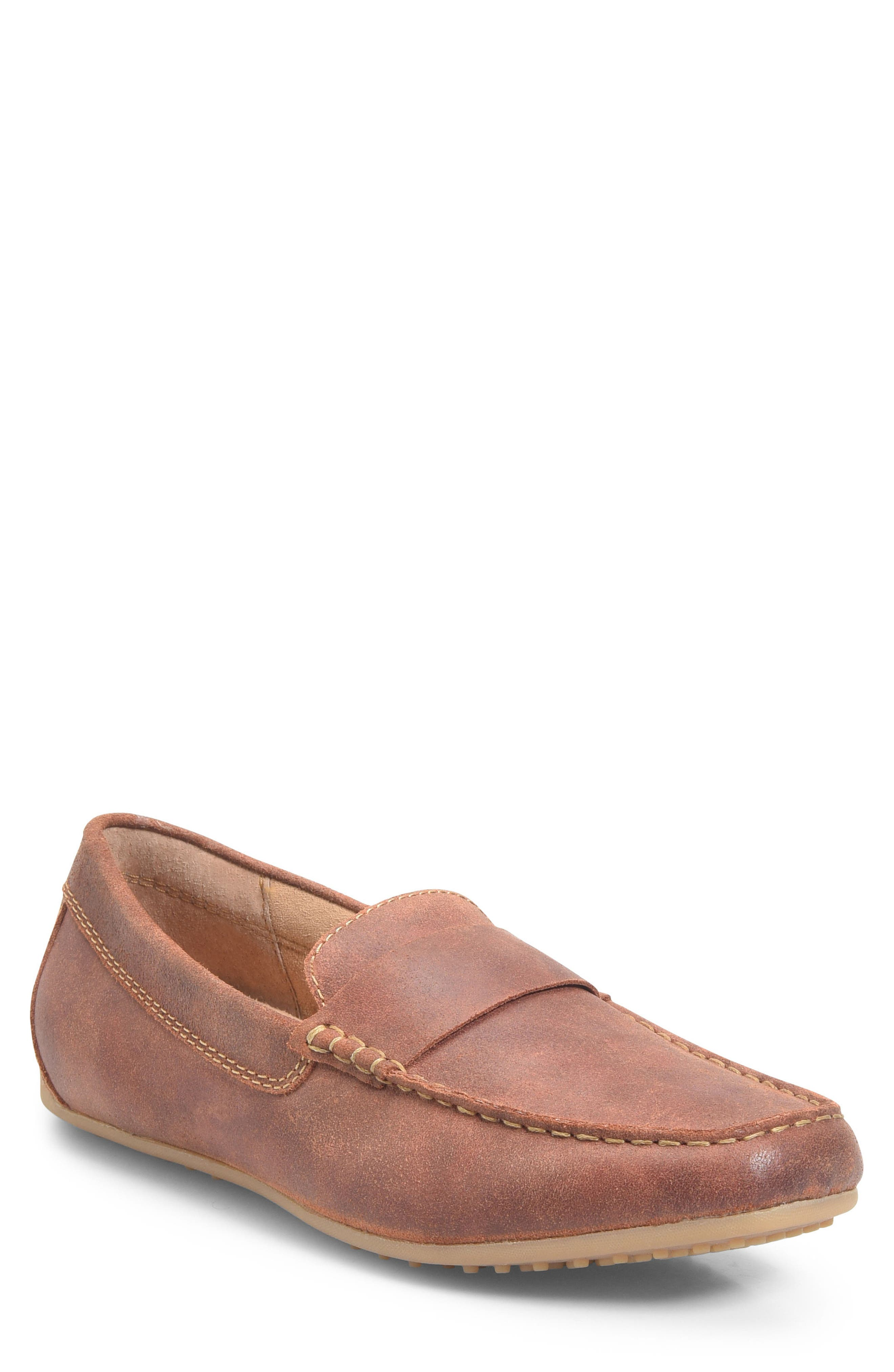 Ratner Driving Loafer,                         Main,                         color, Rust Leather