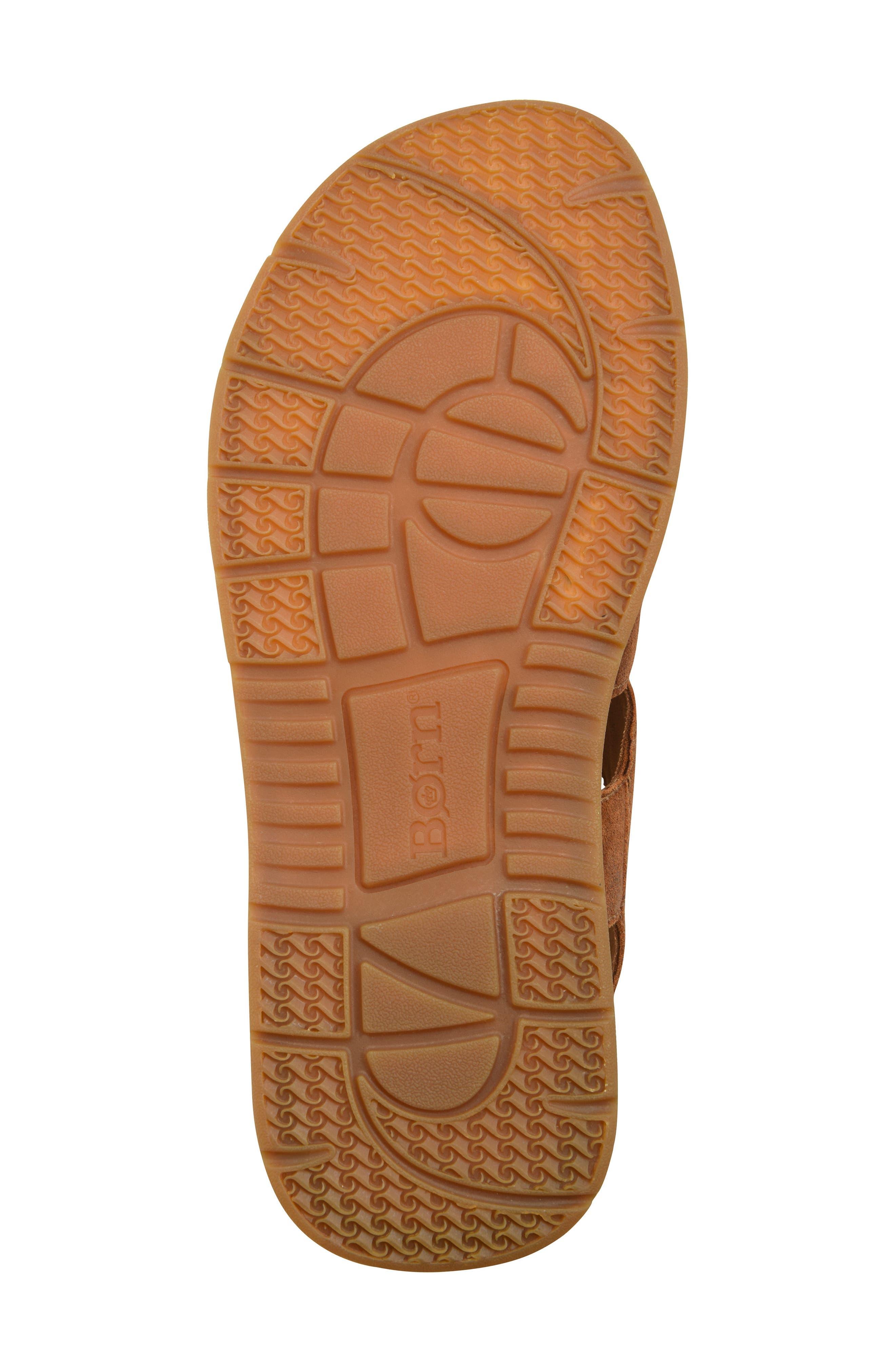 Shell Cross Strap Sandal,                             Alternate thumbnail 6, color,                             Rust Leather