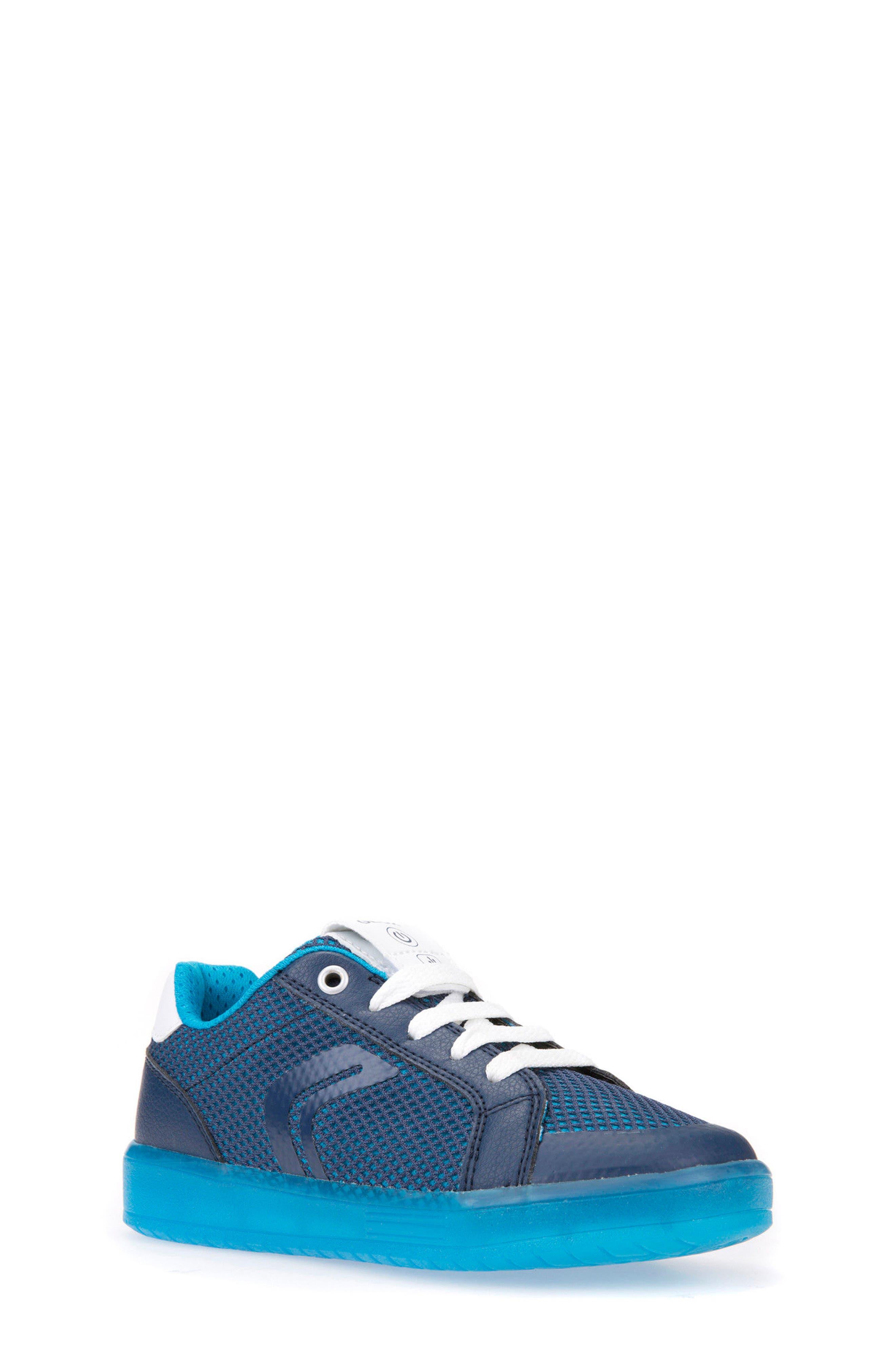 Kommodor Light-Up Mesh Sneaker,                             Main thumbnail 1, color,                             Navy/ Light Blue