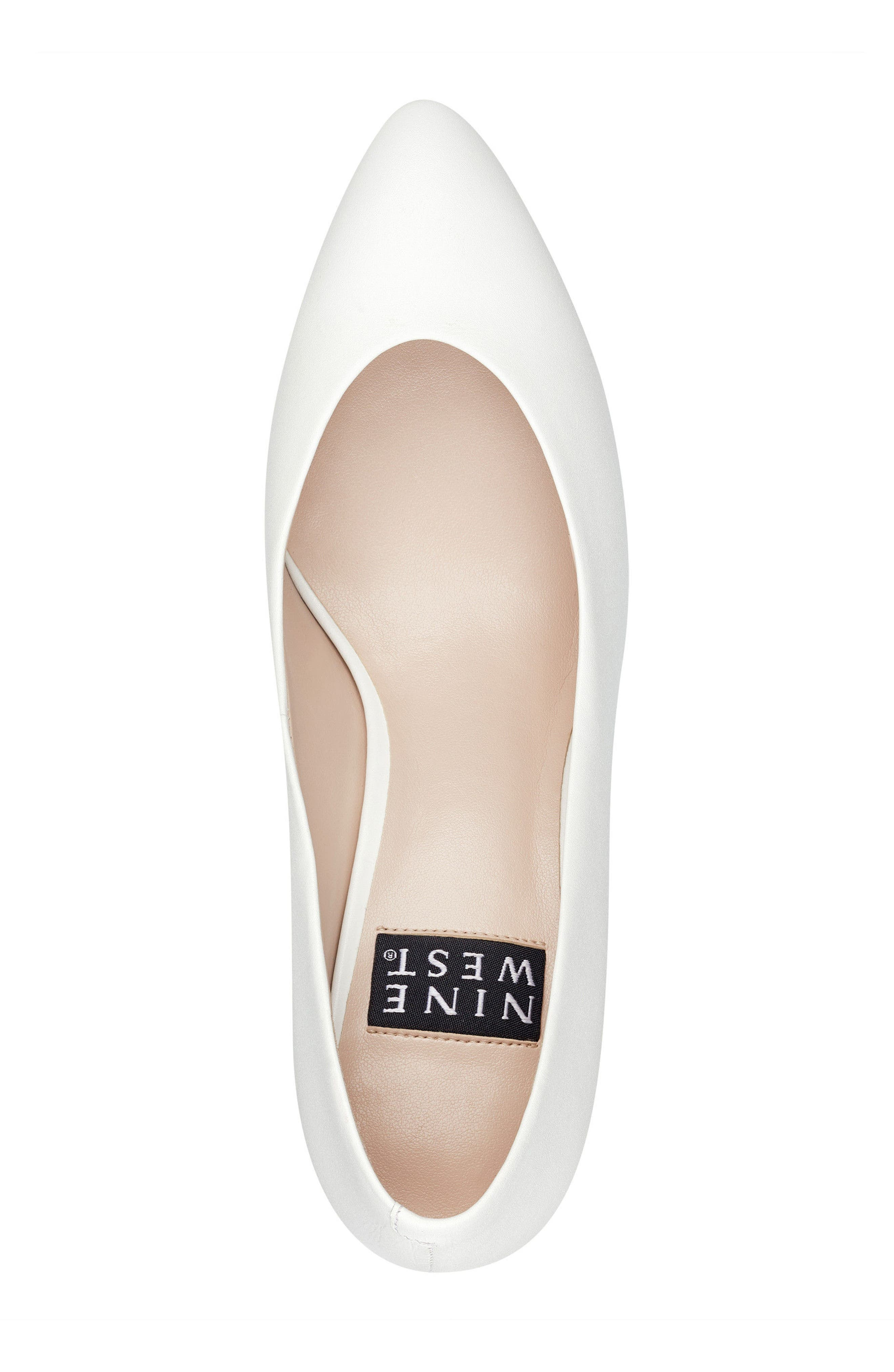 Faith - 40th Anniversary Capsule Collection Pump,                             Alternate thumbnail 5, color,                             White Leather