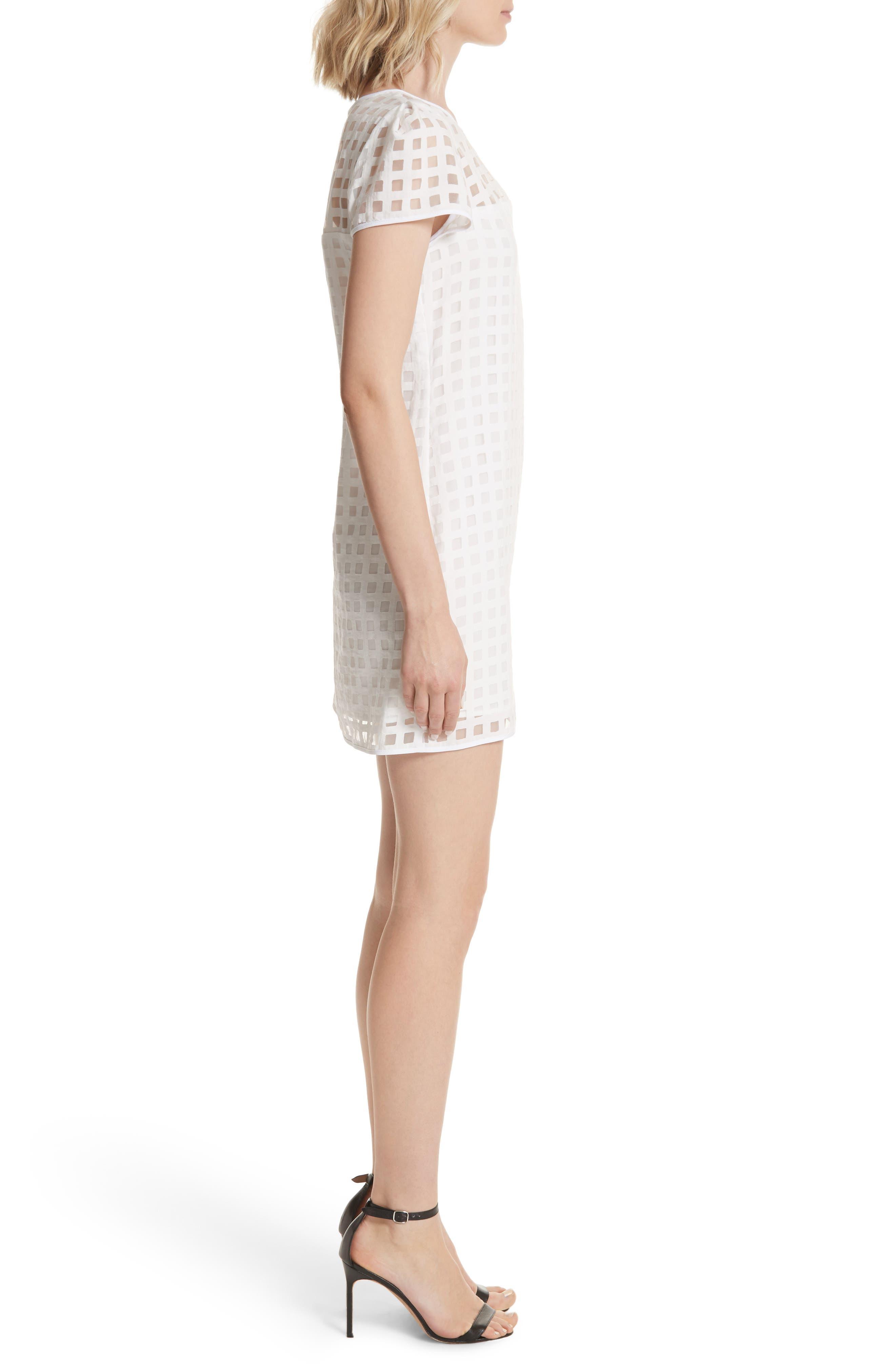 Alternate Image 3  - Milly Chloe Illusion Check Shift Dress