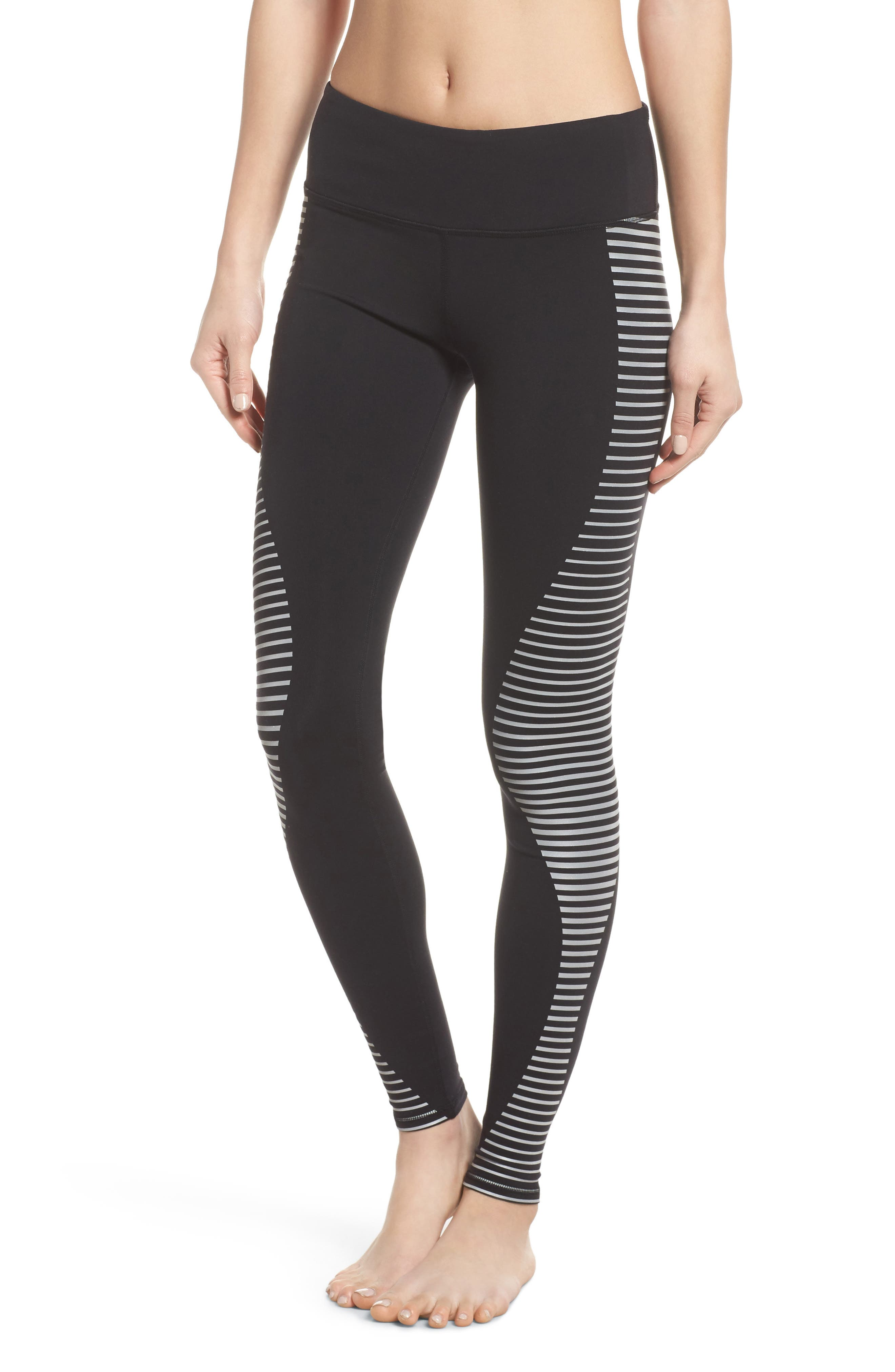 'Airbrushed' Leggings,                         Main,                         color, Black Reflector