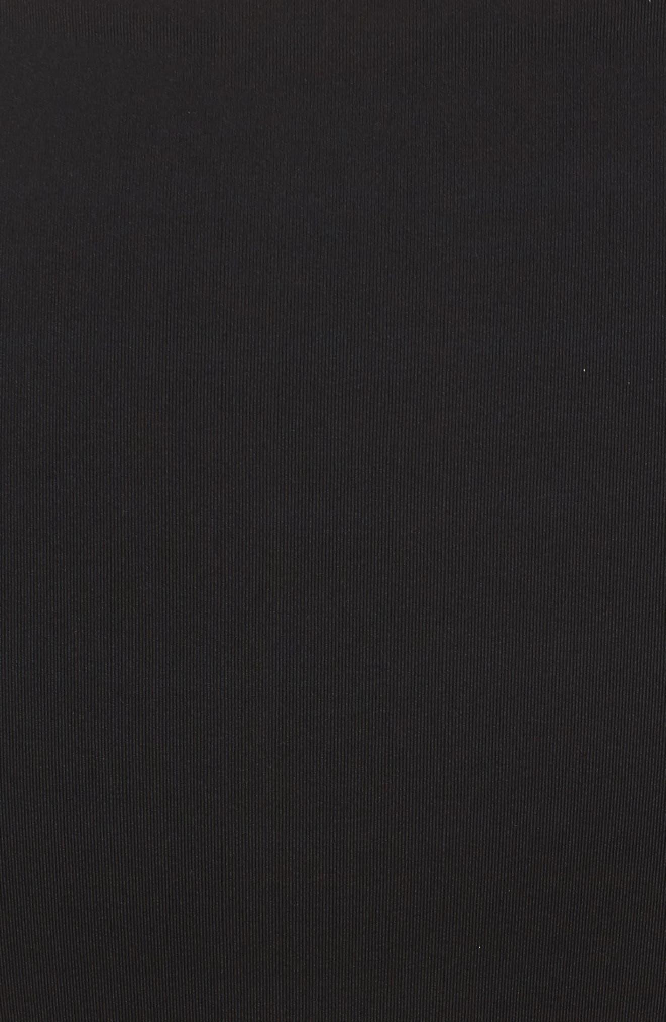 Jackie High Waist Bikini Bottoms,                             Alternate thumbnail 5, color,                             Black