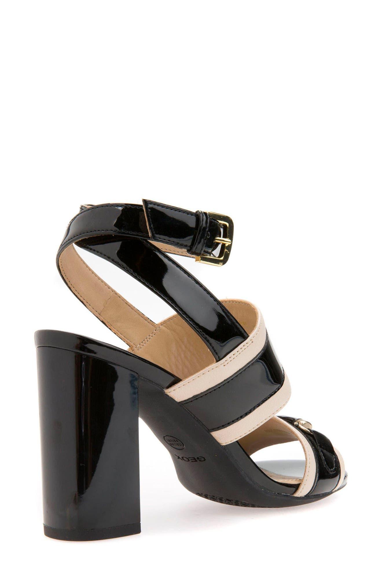 Audalie 6 Sandal,                             Alternate thumbnail 2, color,                             Black Leather