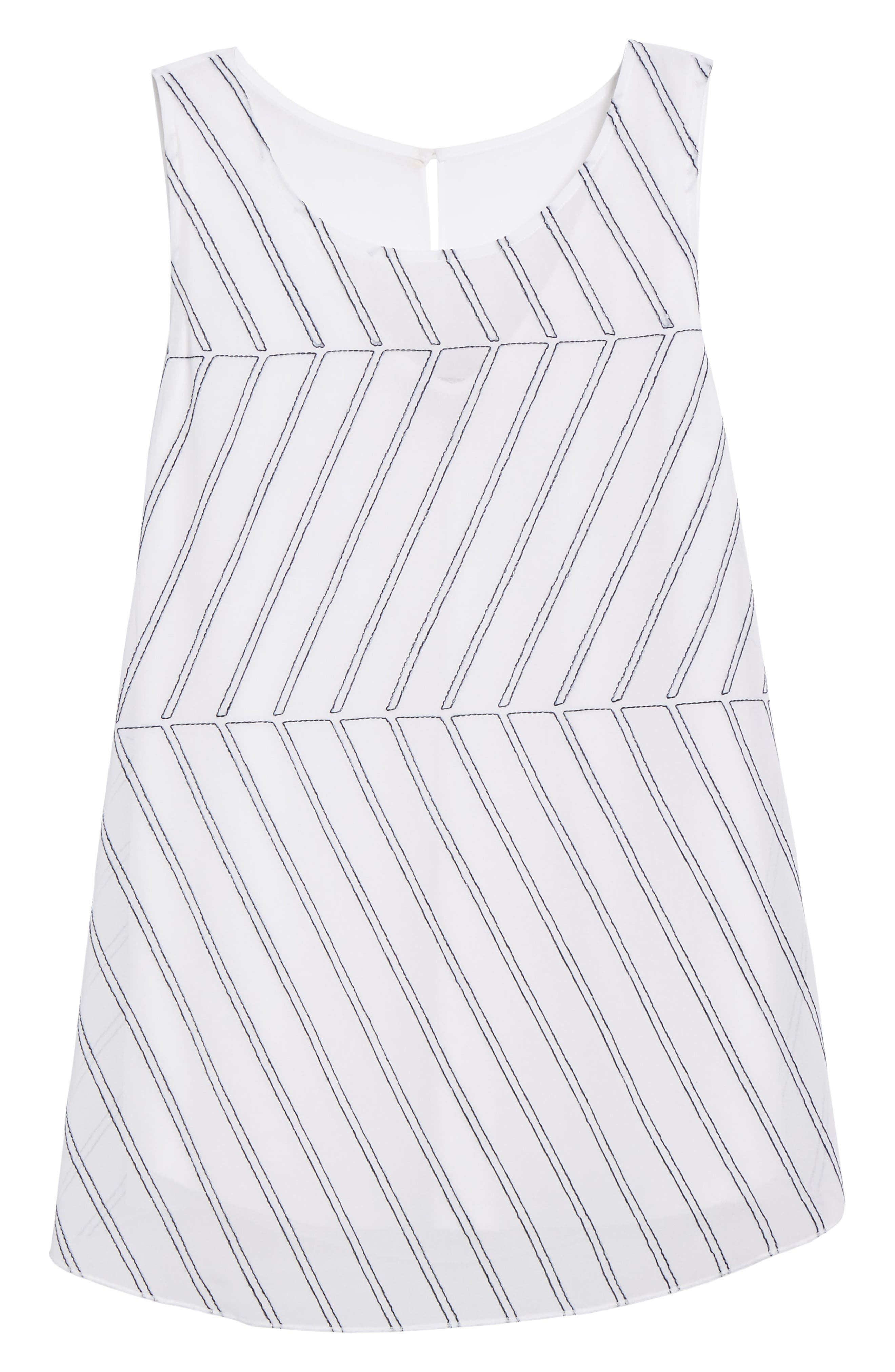 Heat Retreat Layered Tank,                             Alternate thumbnail 6, color,                             Paper White