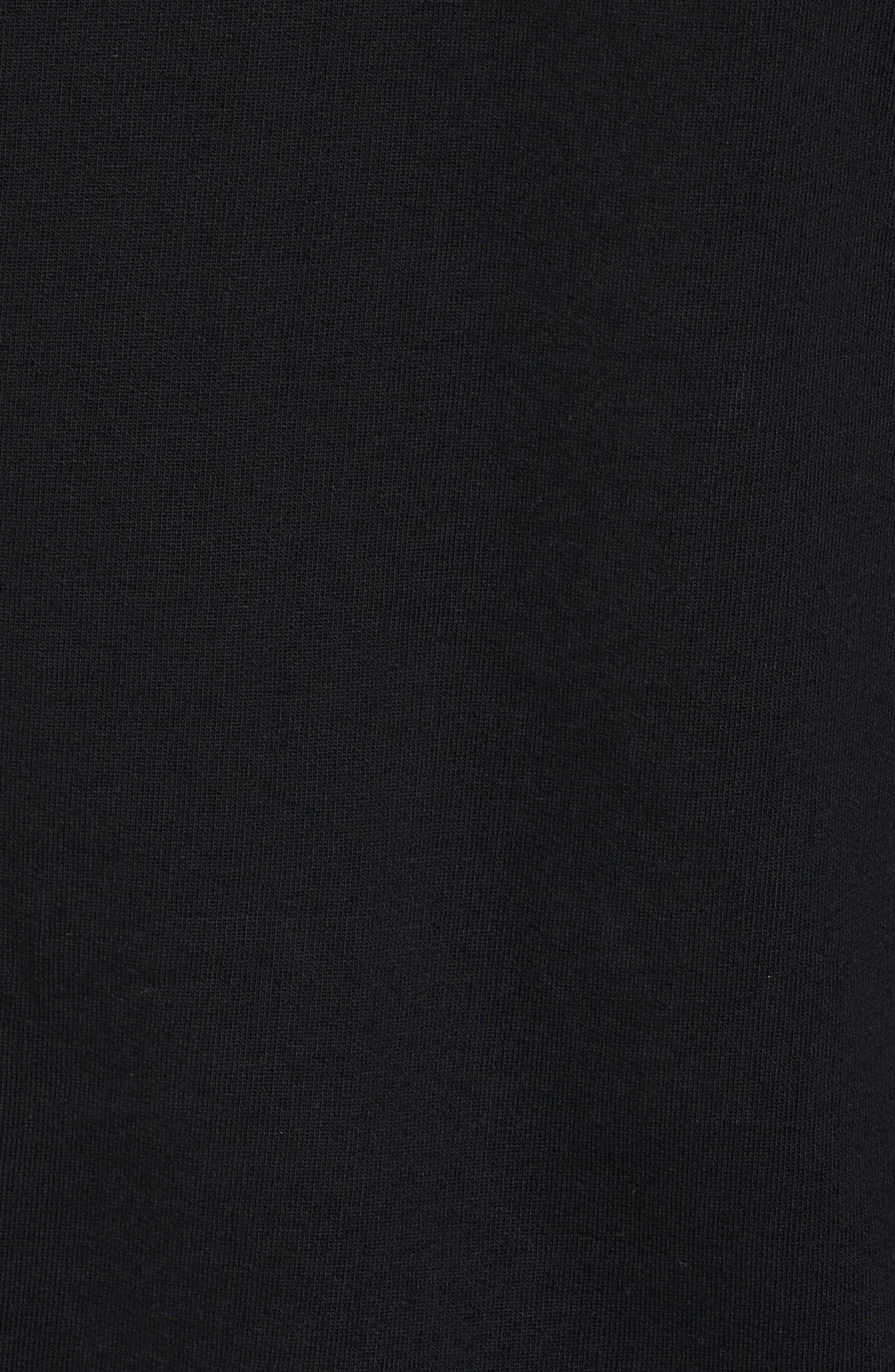 Lyle Slim Fit Quarter Zip Hoodie,                             Alternate thumbnail 5, color,                             True Black