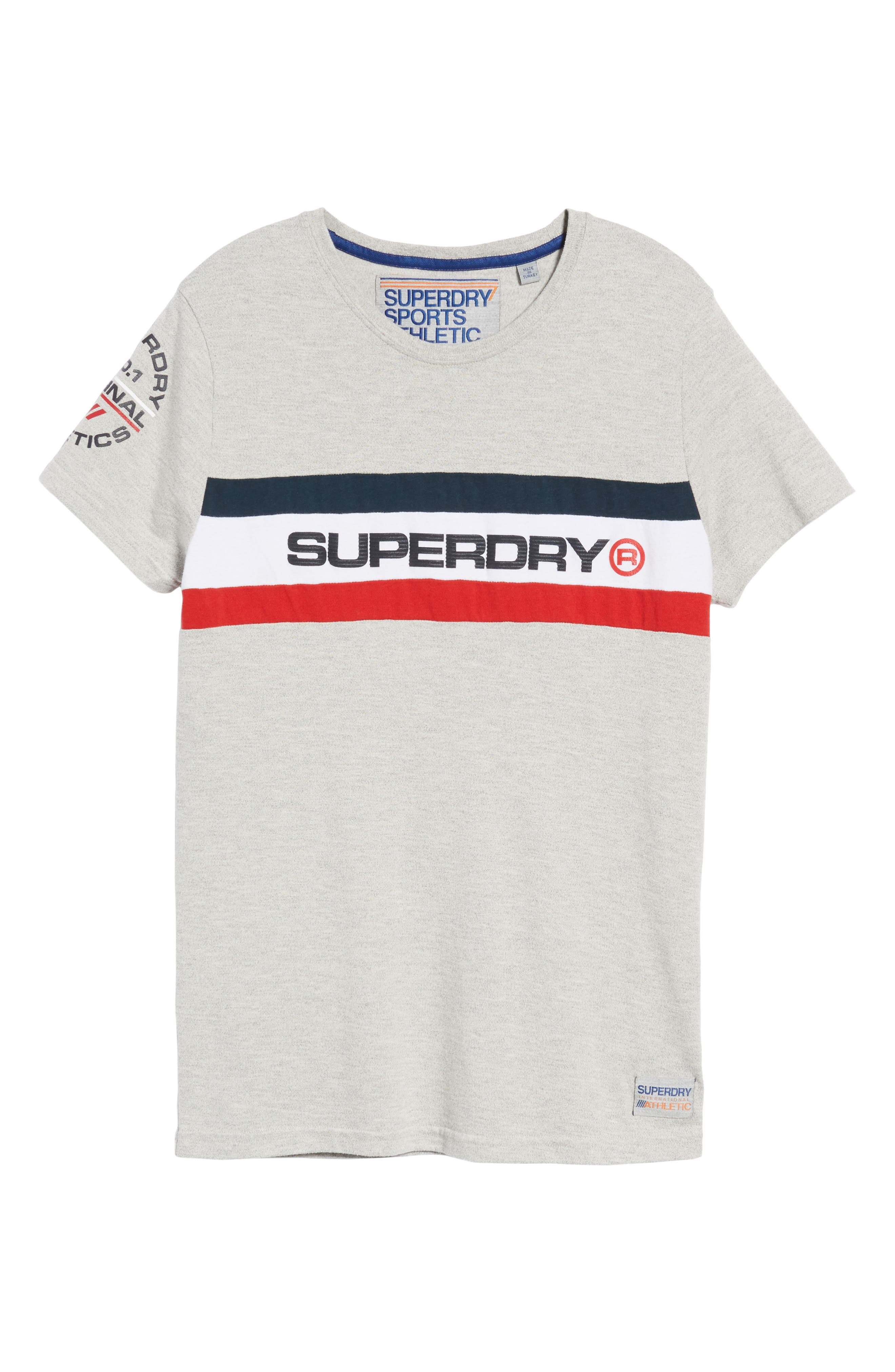 Trophy Chest Band T-Shirt,                             Alternate thumbnail 6, color,                             Superdry Stadium Grey Grindle