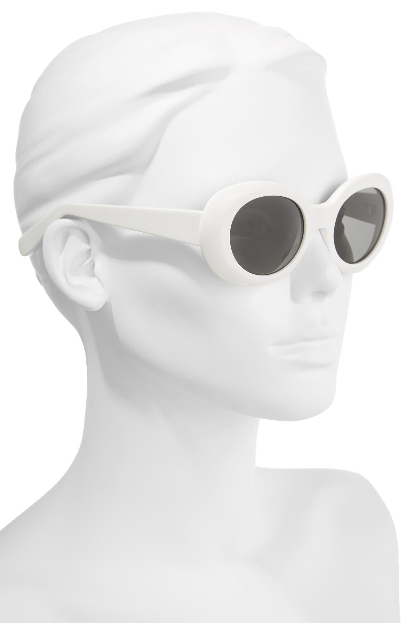 Mustang 48mm Sunglasses,                             Alternate thumbnail 2, color,                             Off White/ Black