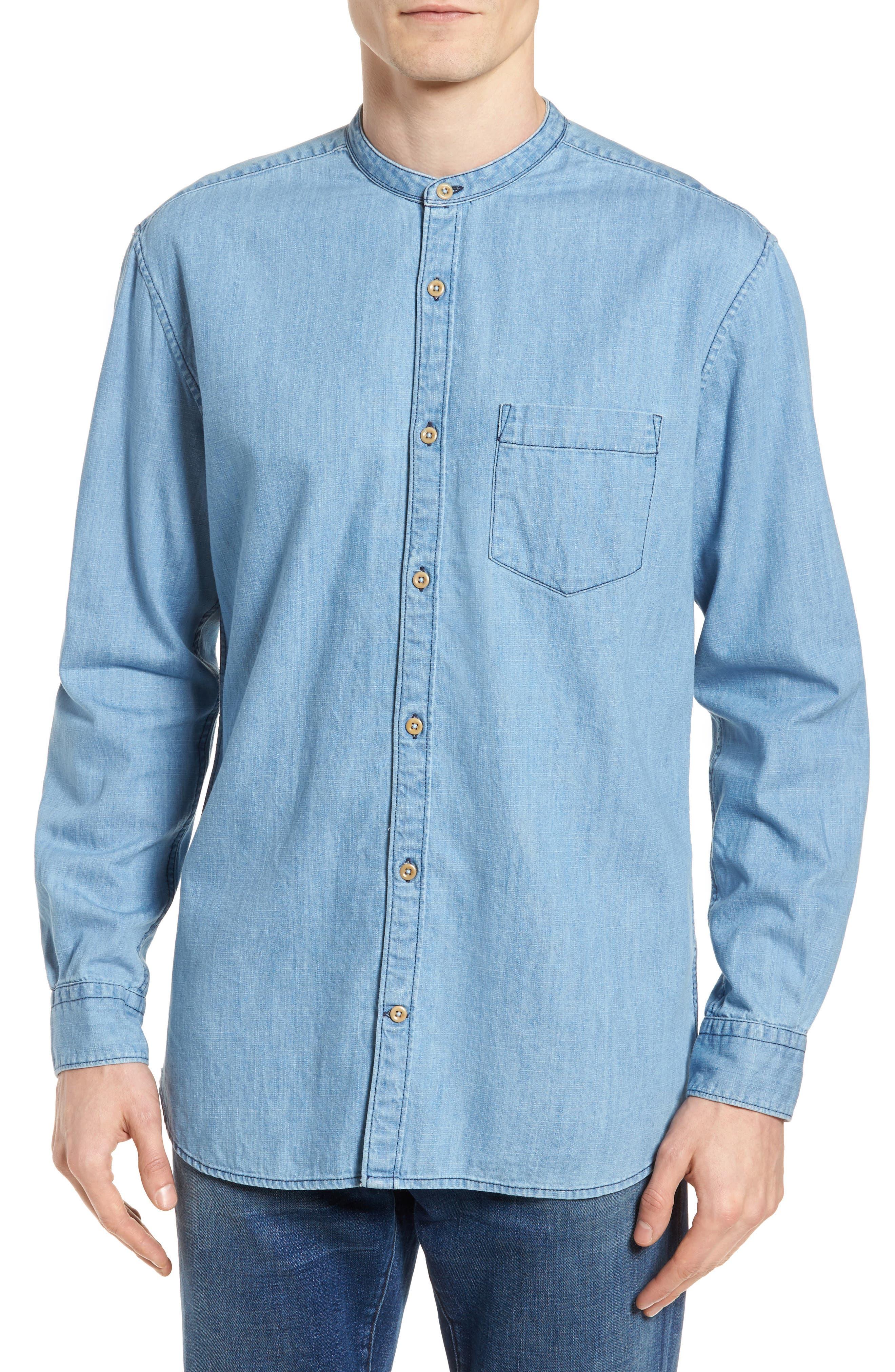 Core Denim Regular Fit Sport Shirt,                         Main,                         color, Bleach