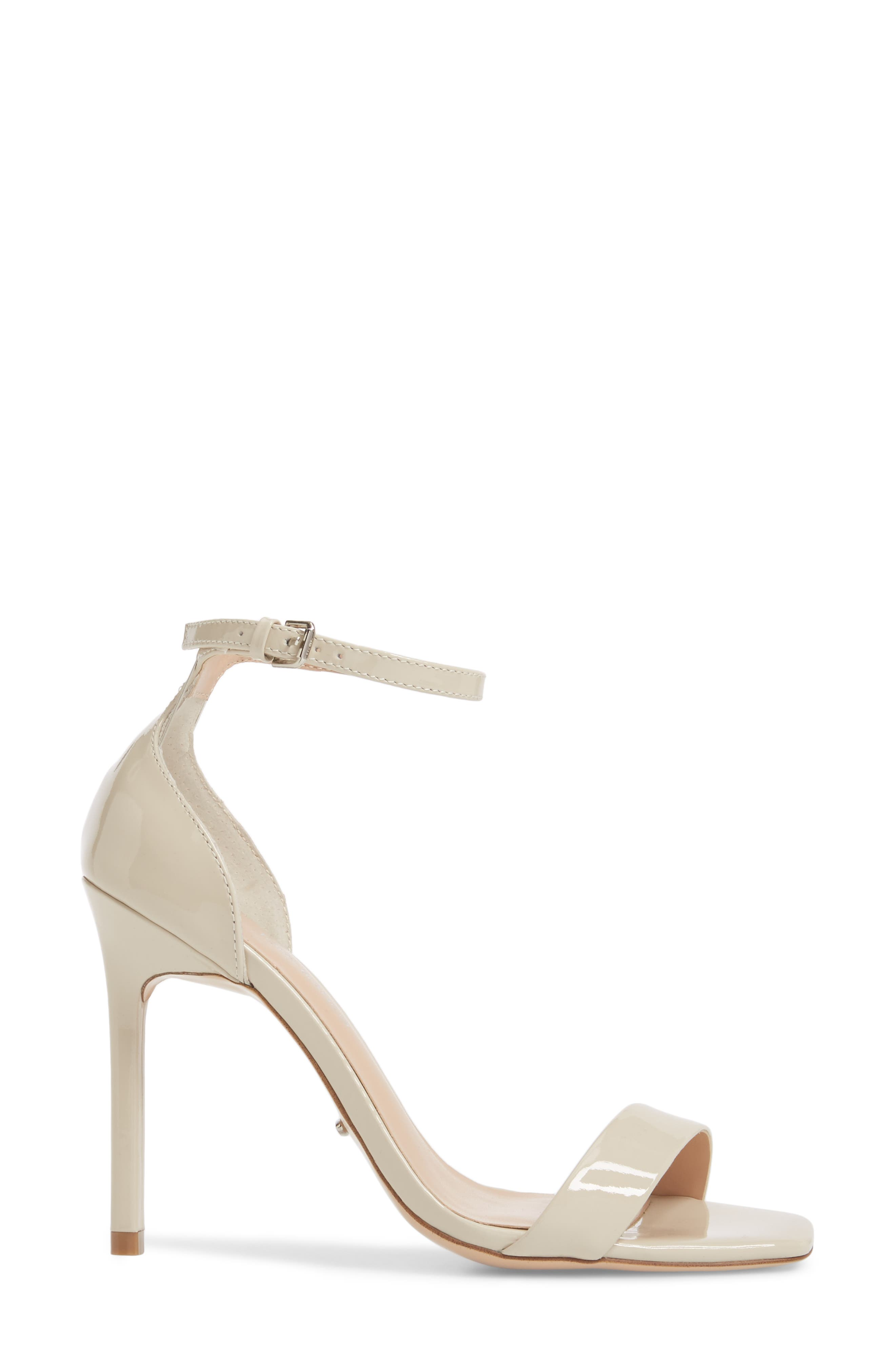 Sacha Ankle Strap Sandal,                             Alternate thumbnail 3, color,                             Oyster Patent Leather
