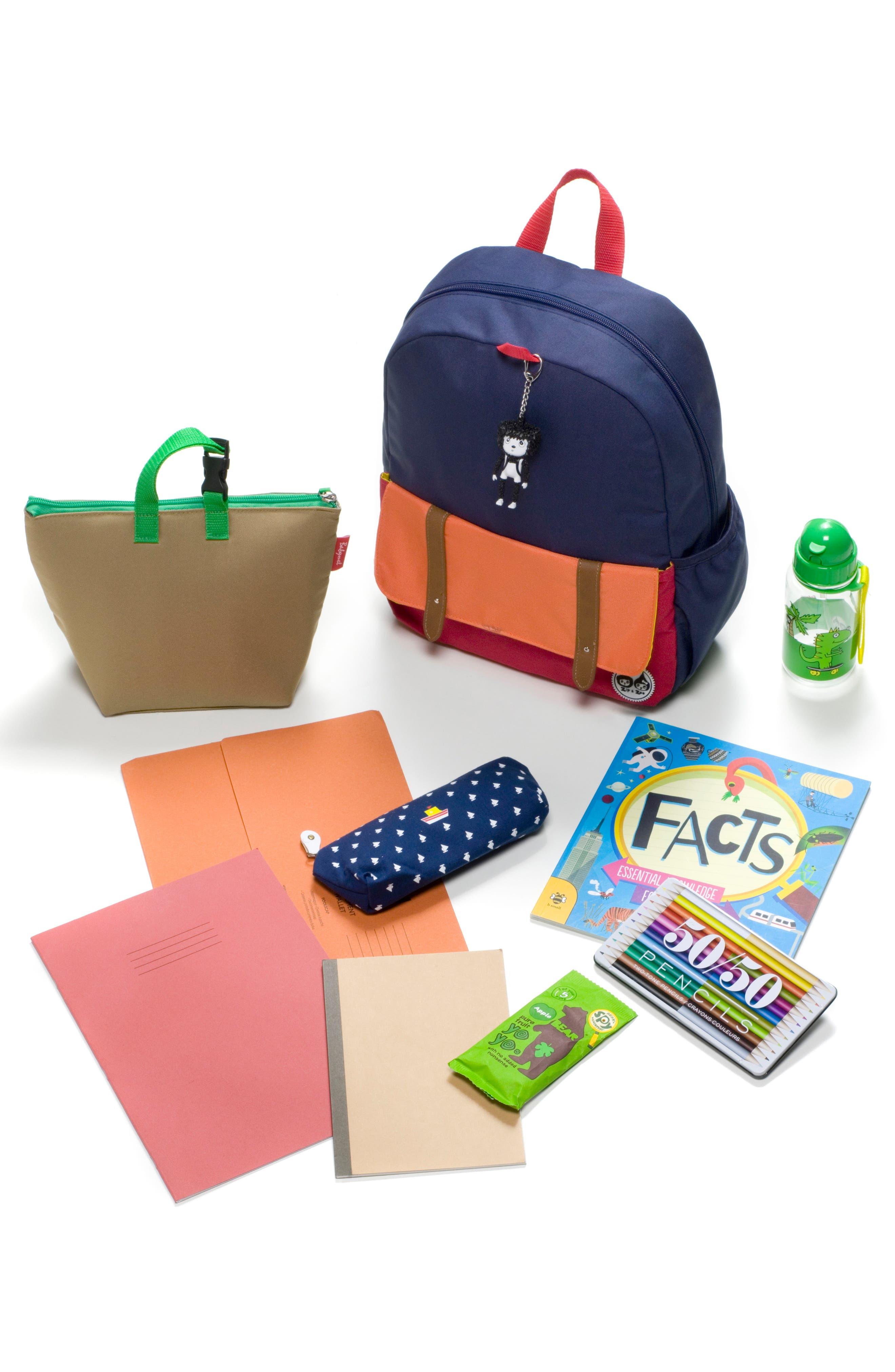 Zip & Zoe Colorblock Junior Backpack,                             Alternate thumbnail 4, color,                             Blue
