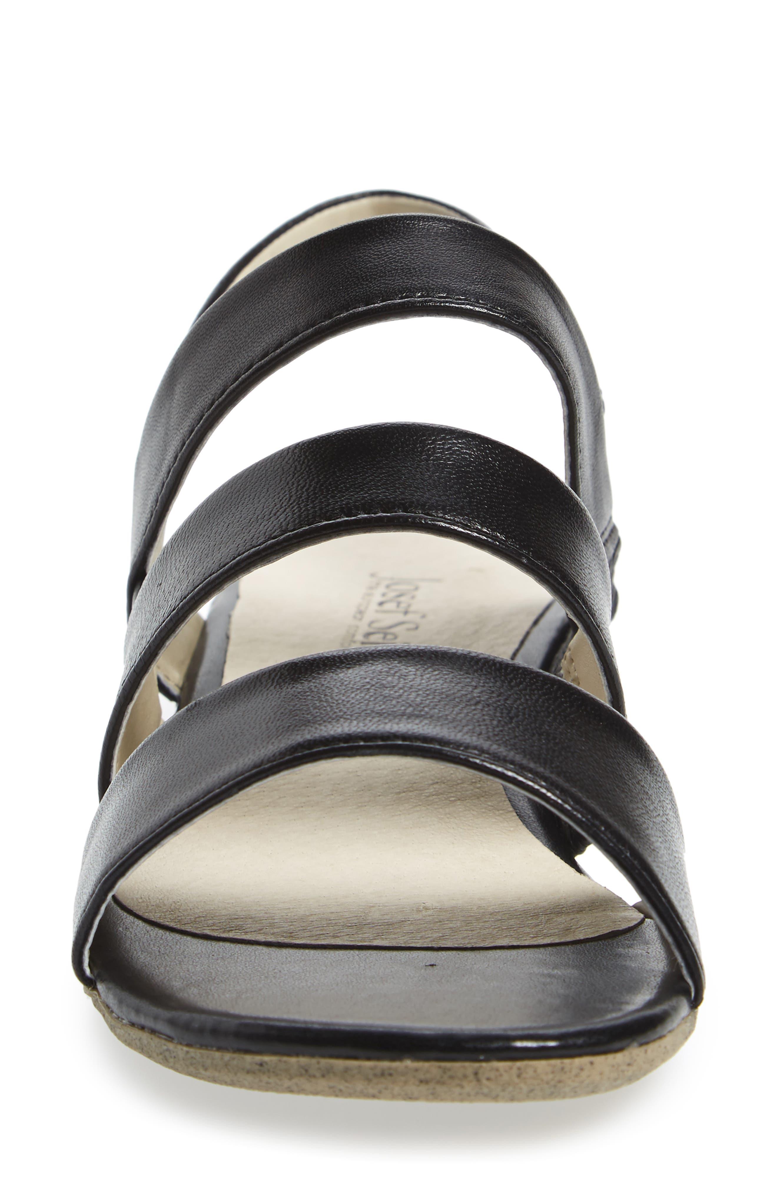 Fabia 11 Sandal,                             Alternate thumbnail 4, color,                             Black