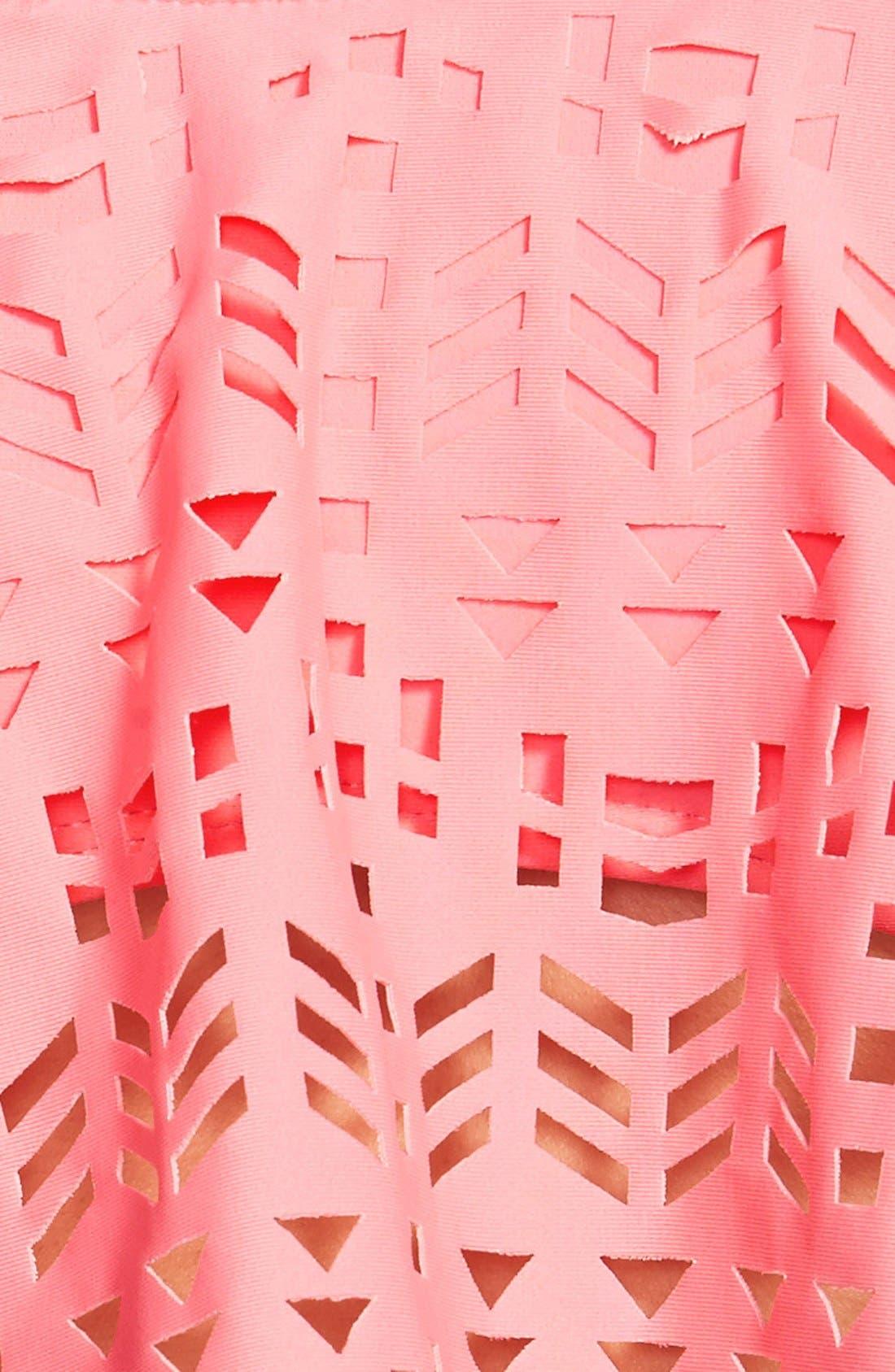 Alternate Image 3  - BP. Dye Cut Halter Bikini Top (Juniors)