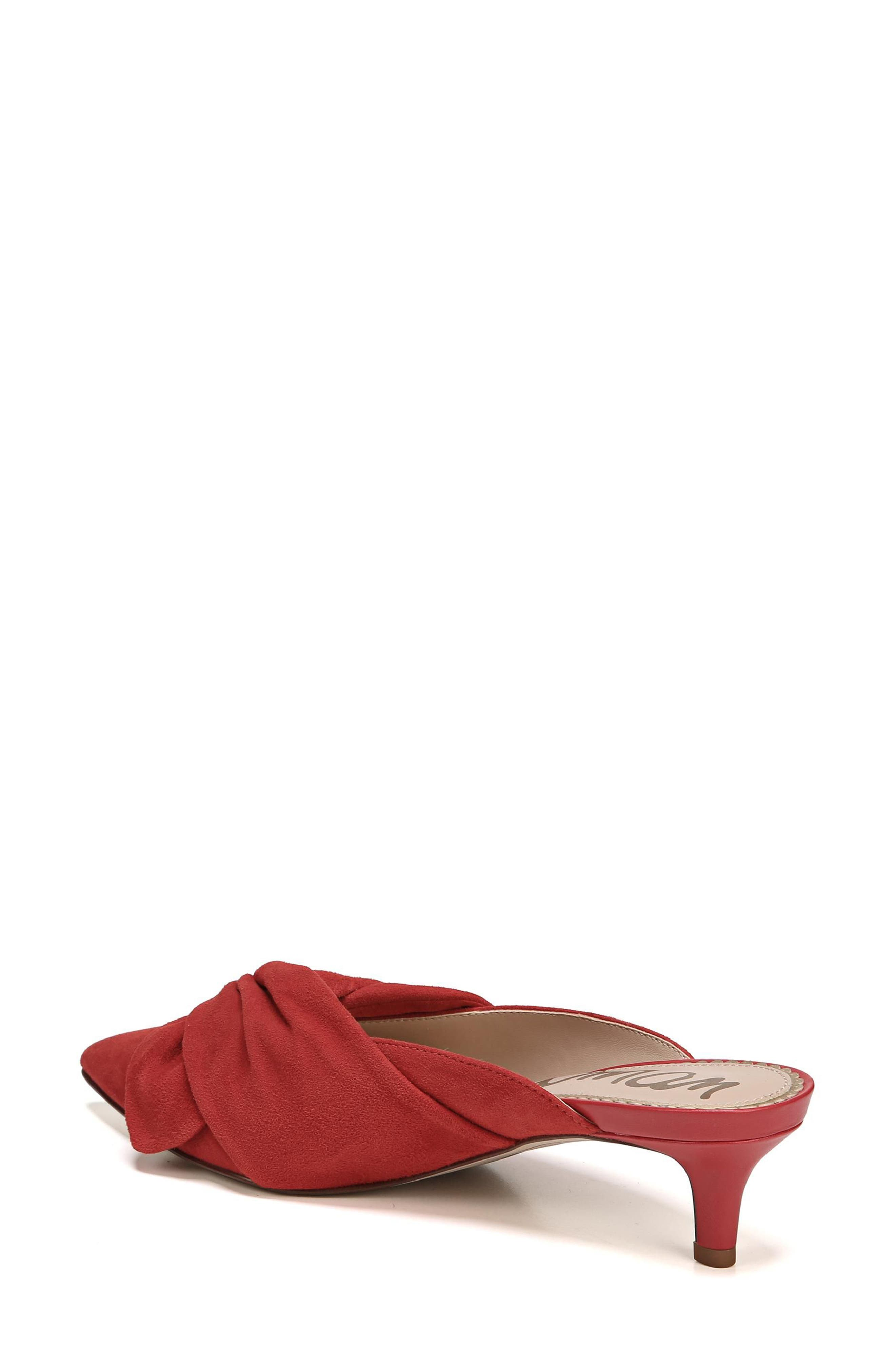 Laney Pointy Toe Mule,                             Alternate thumbnail 2, color,                             Candy Red Suede