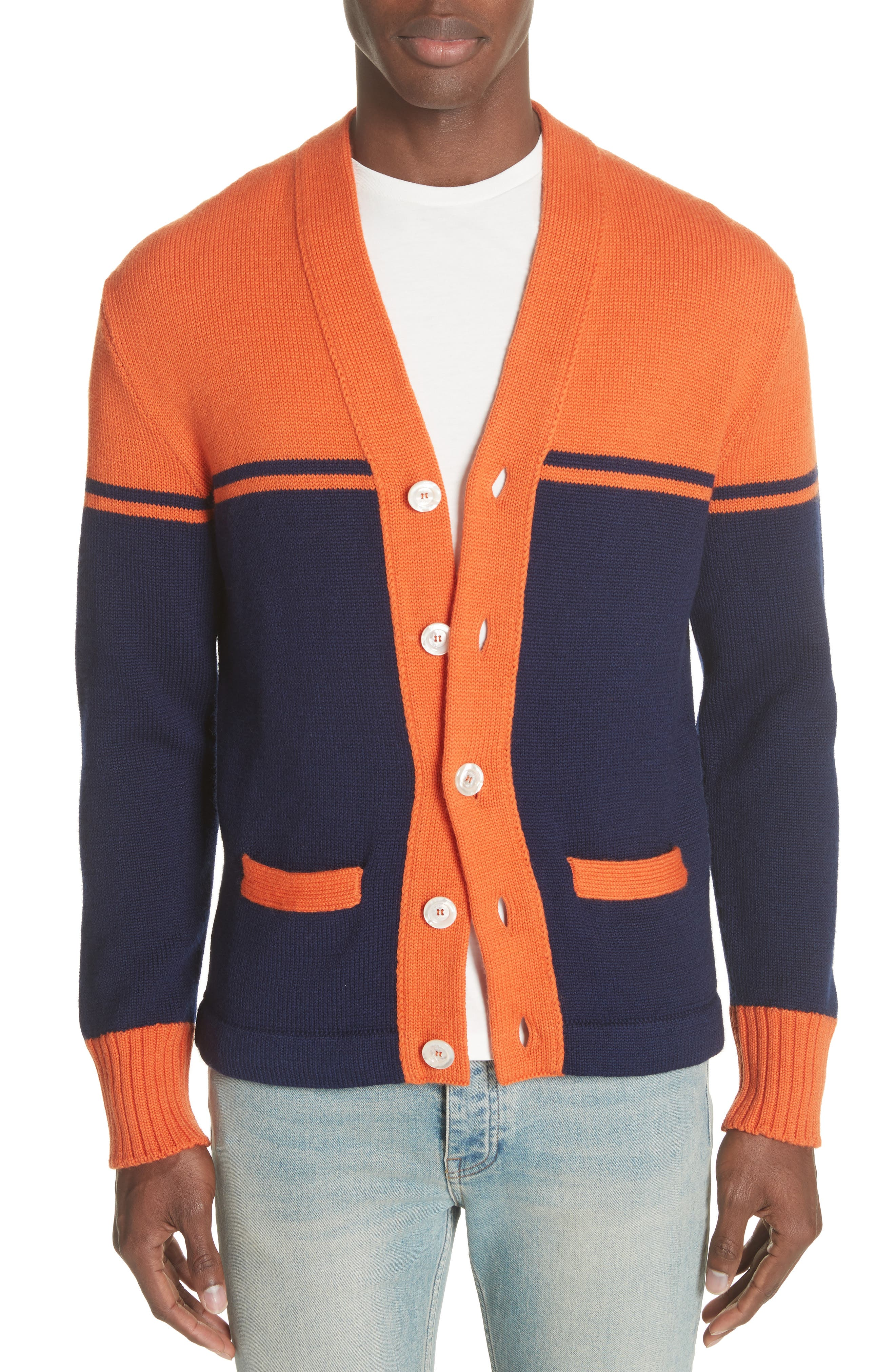 Main Image - Gucci Collegiate Wool Cardigan