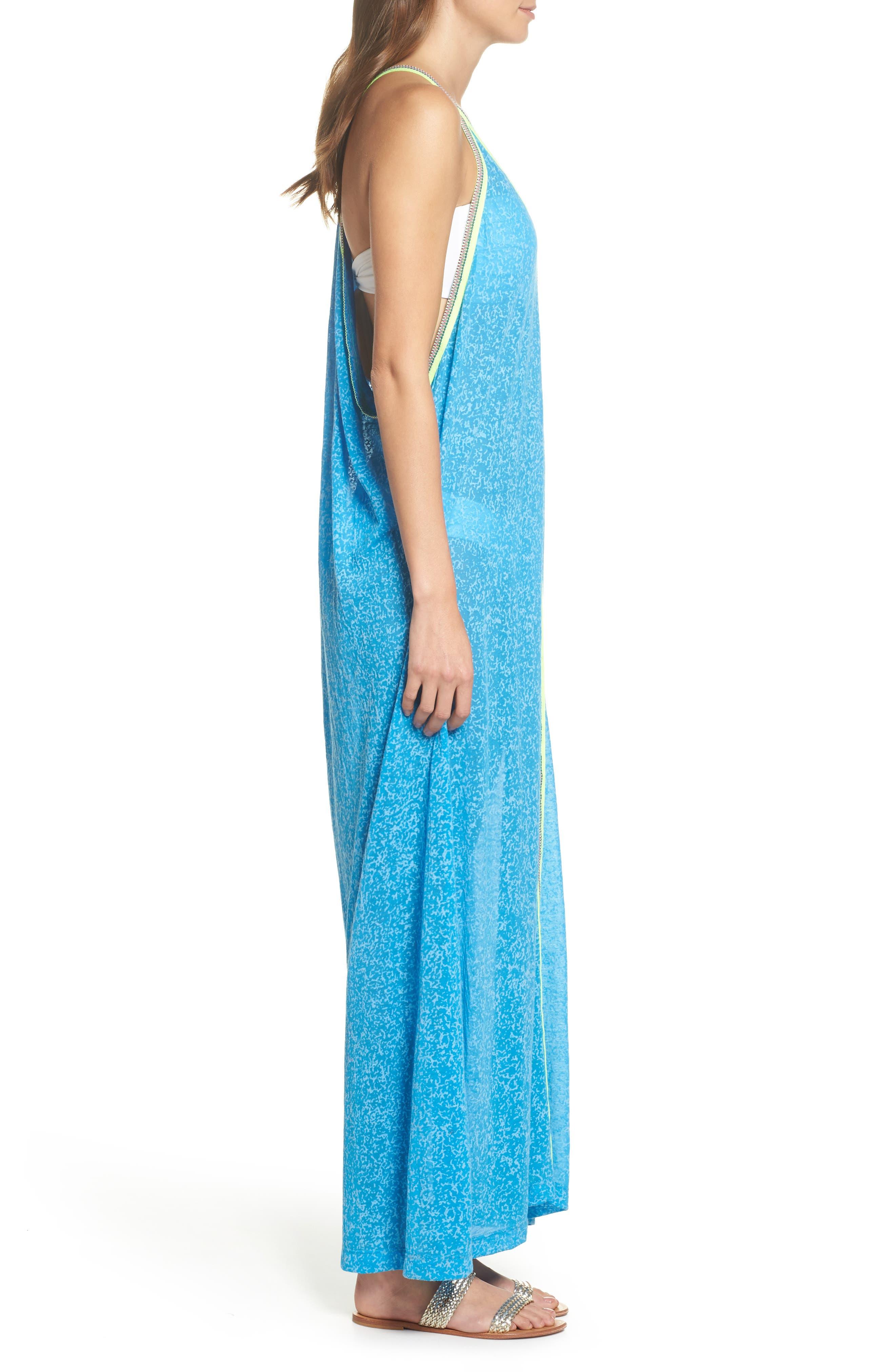 Inca Cover-Up Maxi Sundress,                             Alternate thumbnail 4, color,                             Blue