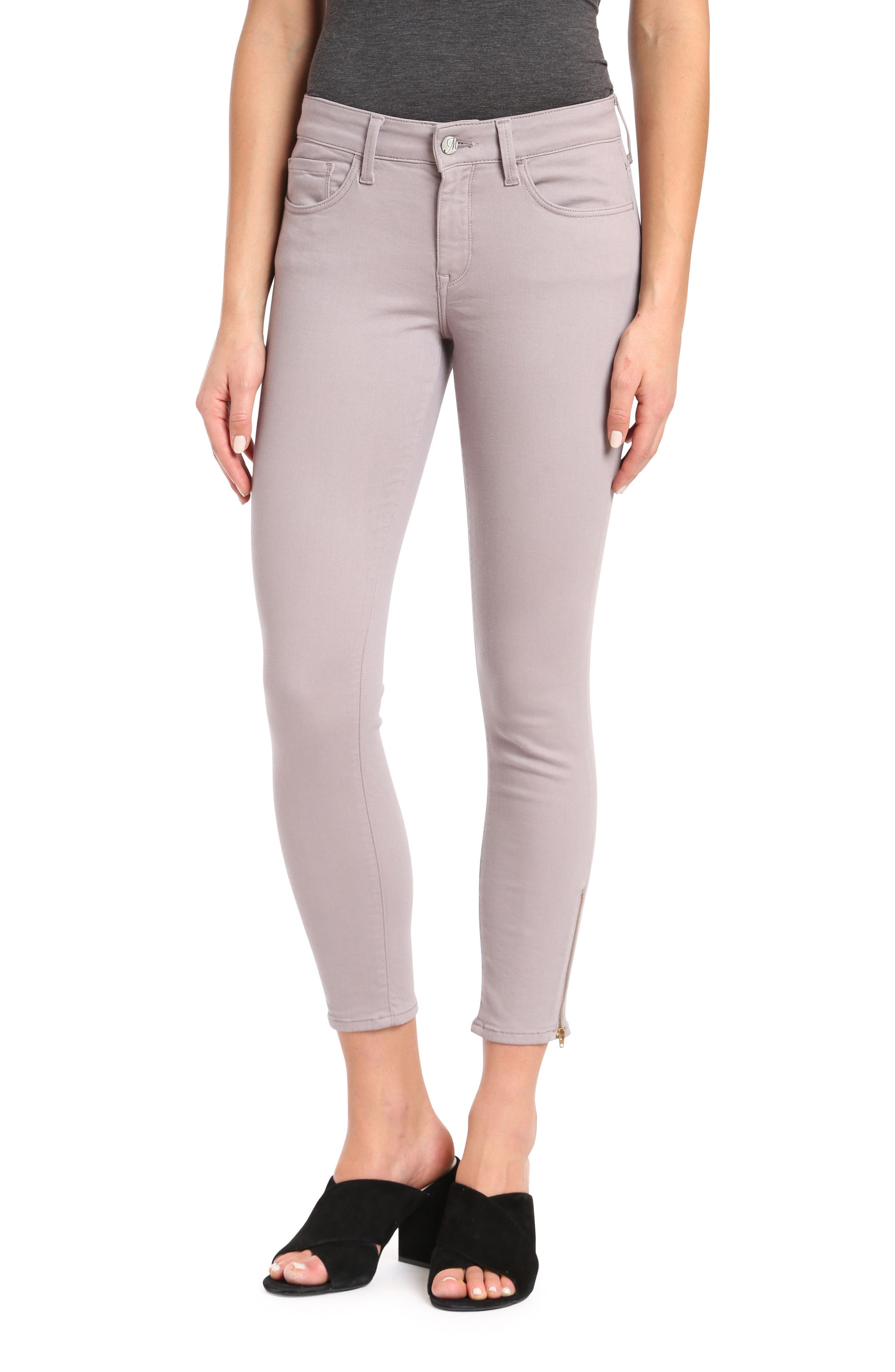 Mavi Alexa Ankle Skinny Twill Pants (Lilac)