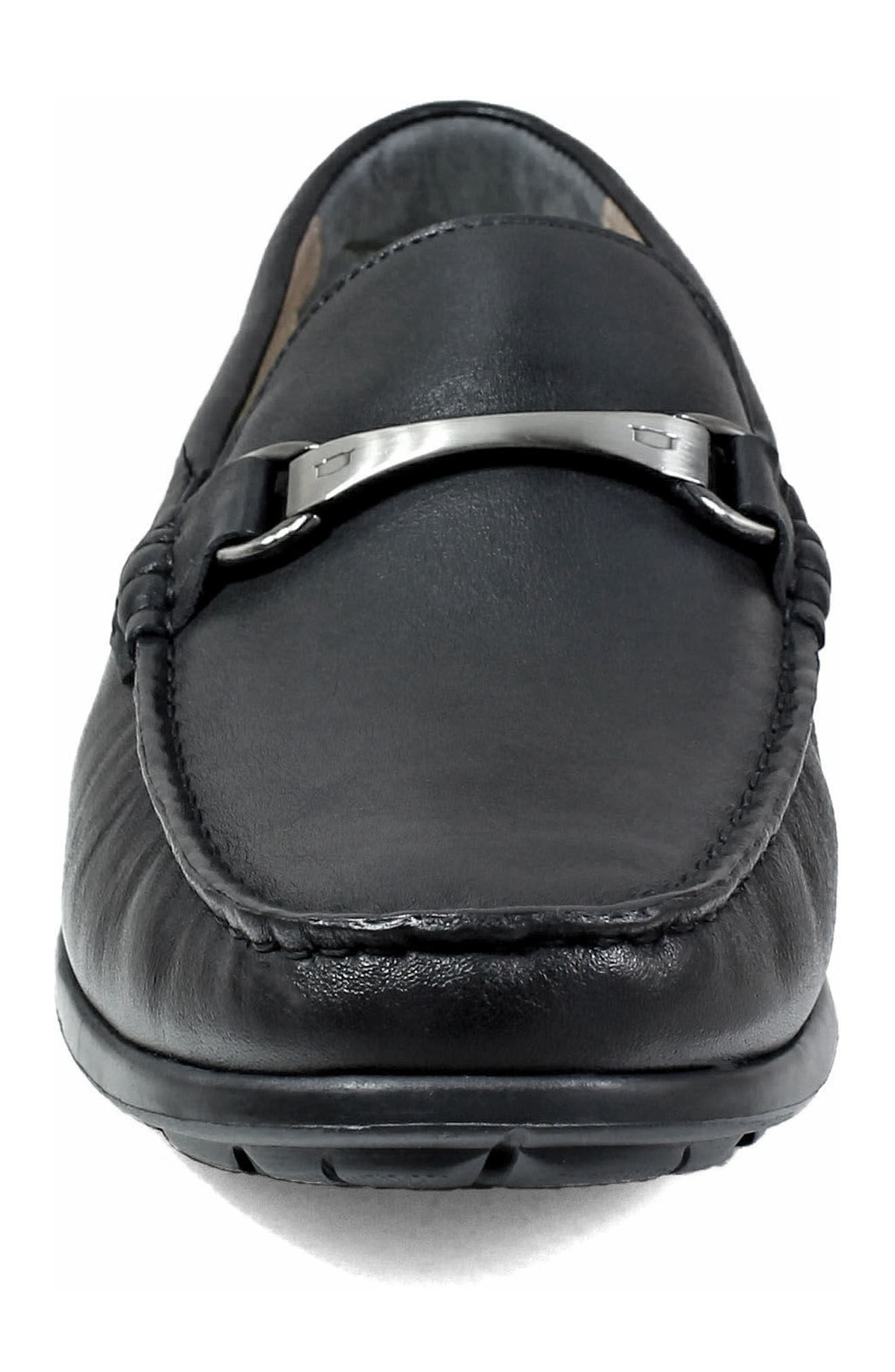 Comfortech Bit Loafer,                             Alternate thumbnail 4, color,                             Black Smooth