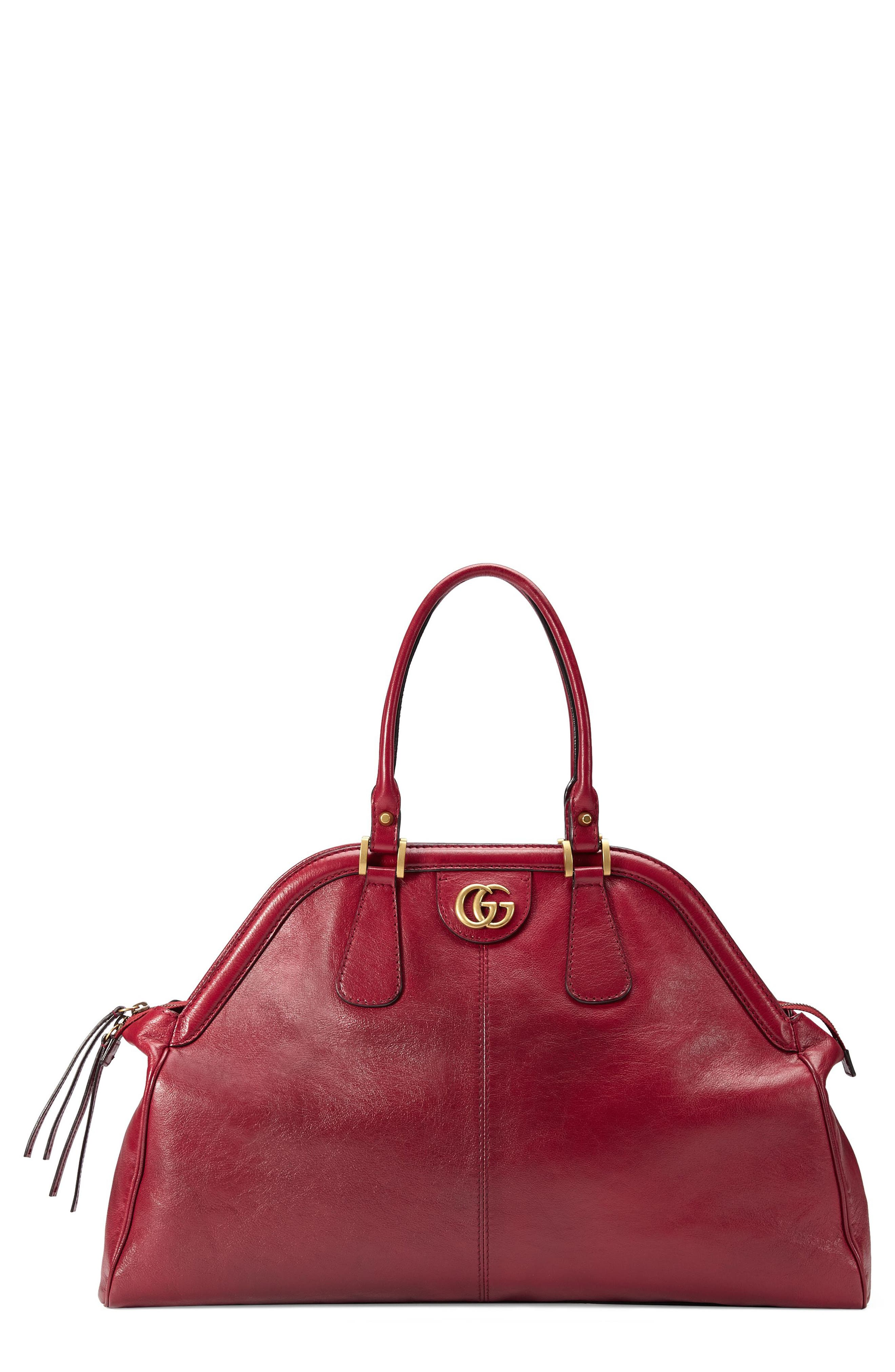 Gucci Large RE(BELLE) Leather Satchel