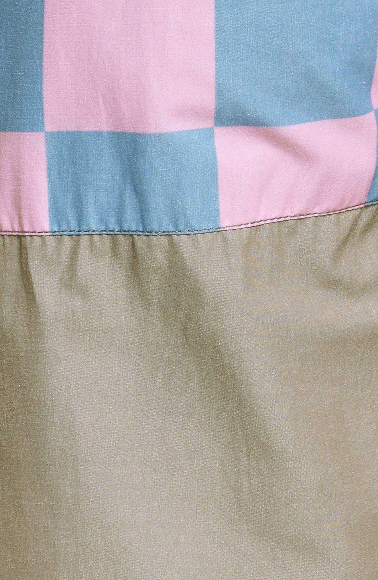 Checkered Board Shorts,                             Alternate thumbnail 5, color,                             Khaki