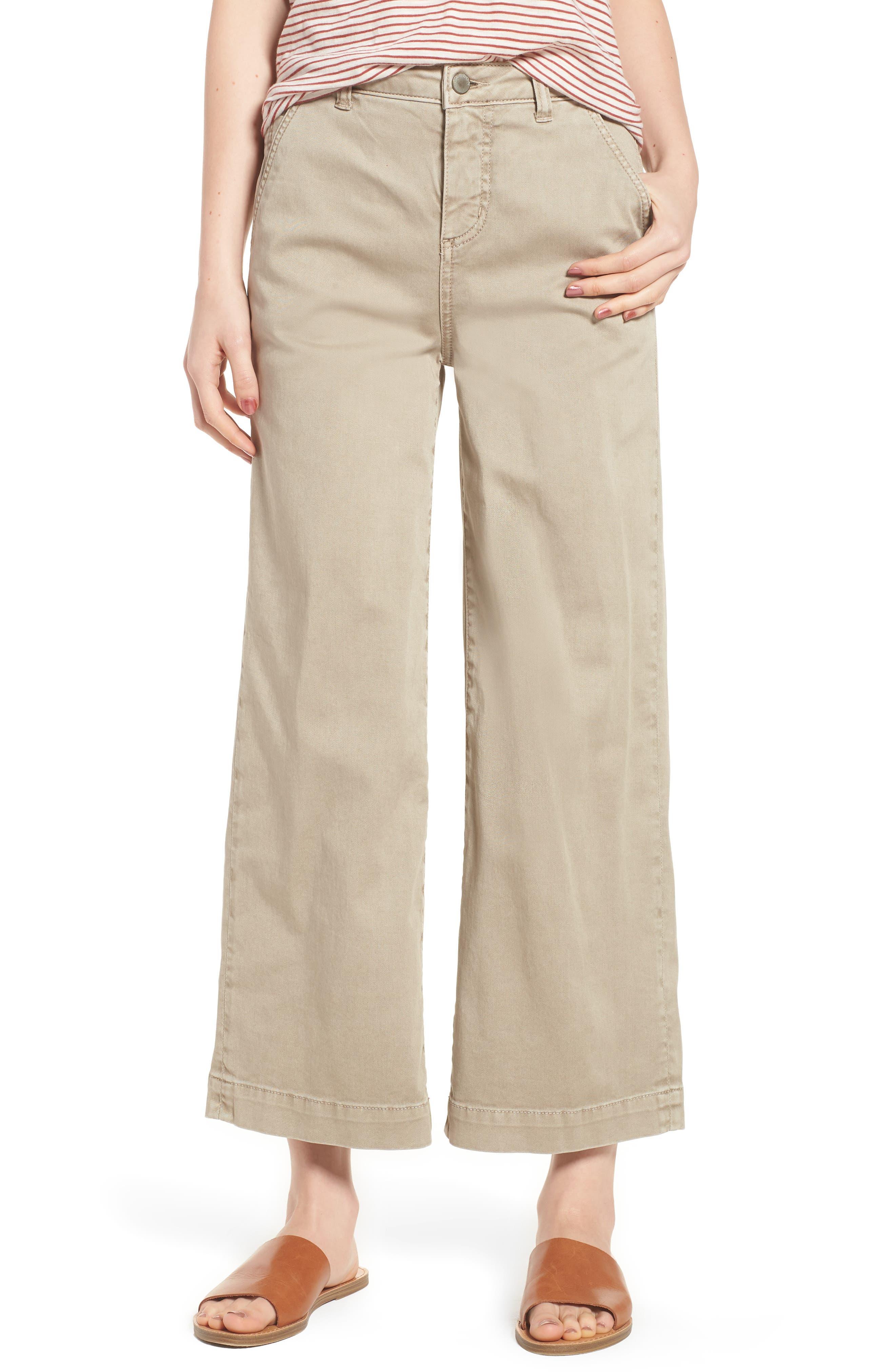 Caslon® Wide Leg Crop Pants