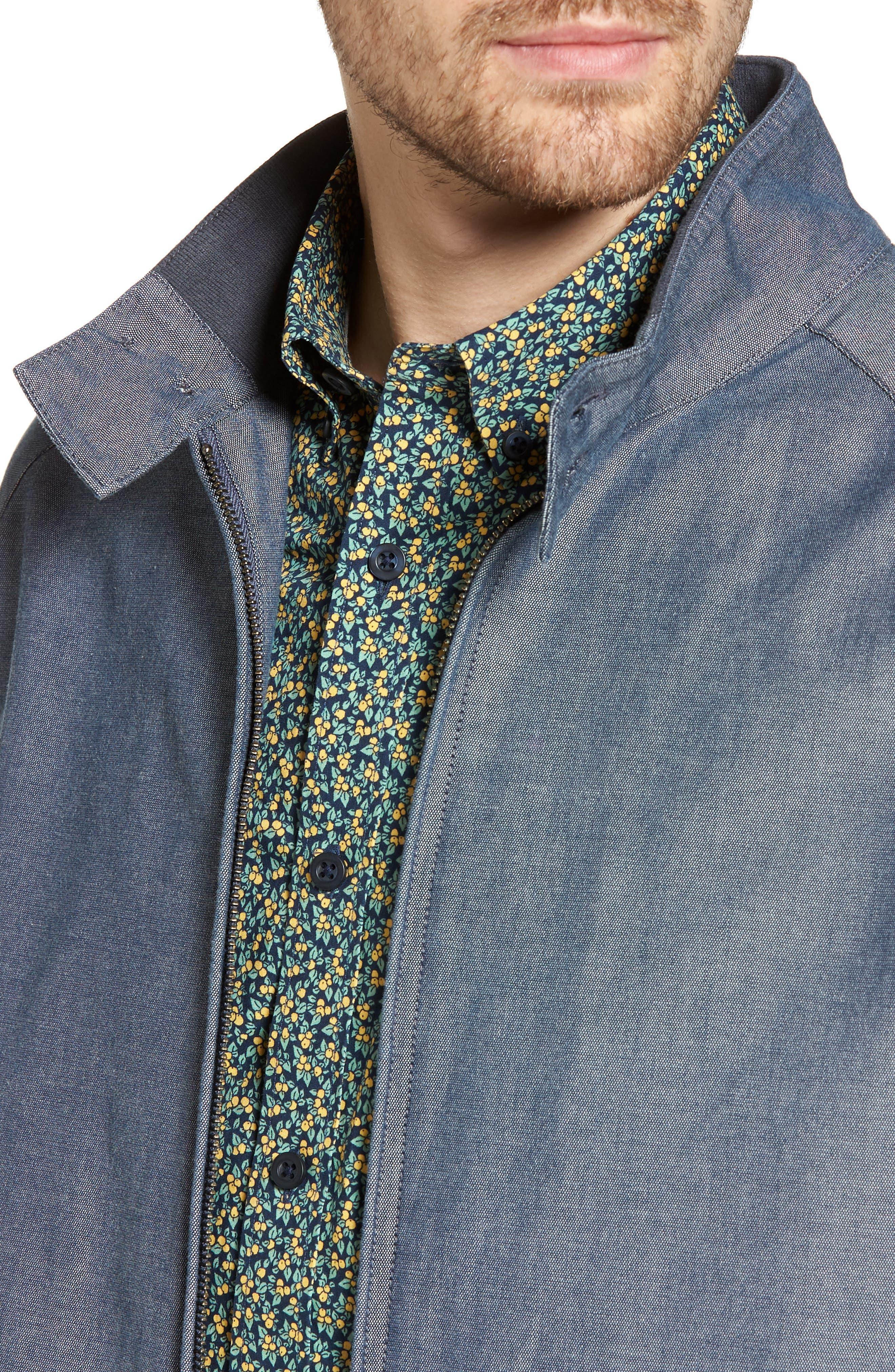 Harrington Jacket,                             Alternate thumbnail 4, color,                             Blue Vintage Chambray