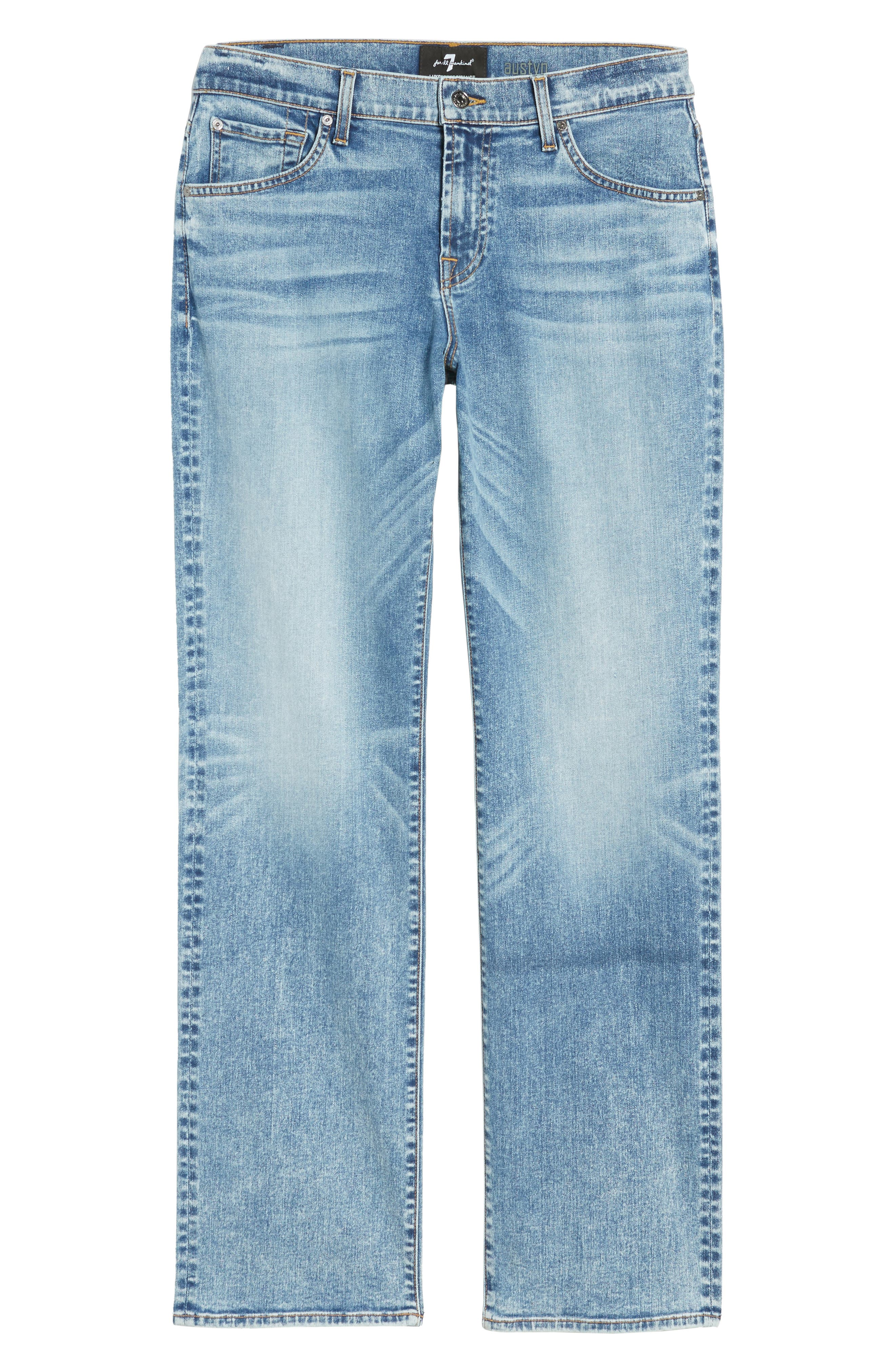 Austyn - Luxe Performance Relaxed Fit Jeans,                             Alternate thumbnail 6, color,                             Death Valley